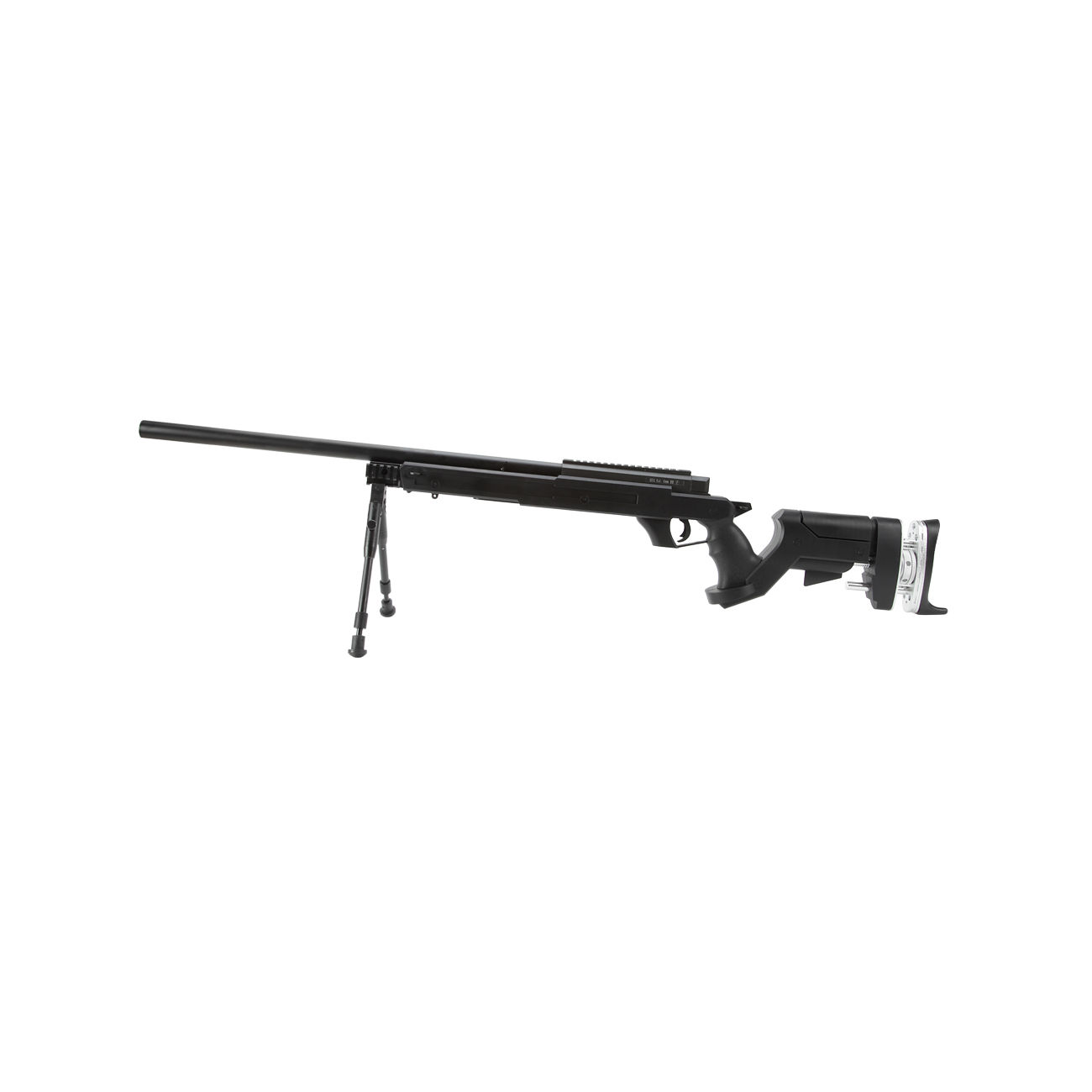 Well SR Pro Tactical Sniper Rifle Springer inkl. Zweibein 6mm BB schwarz 1