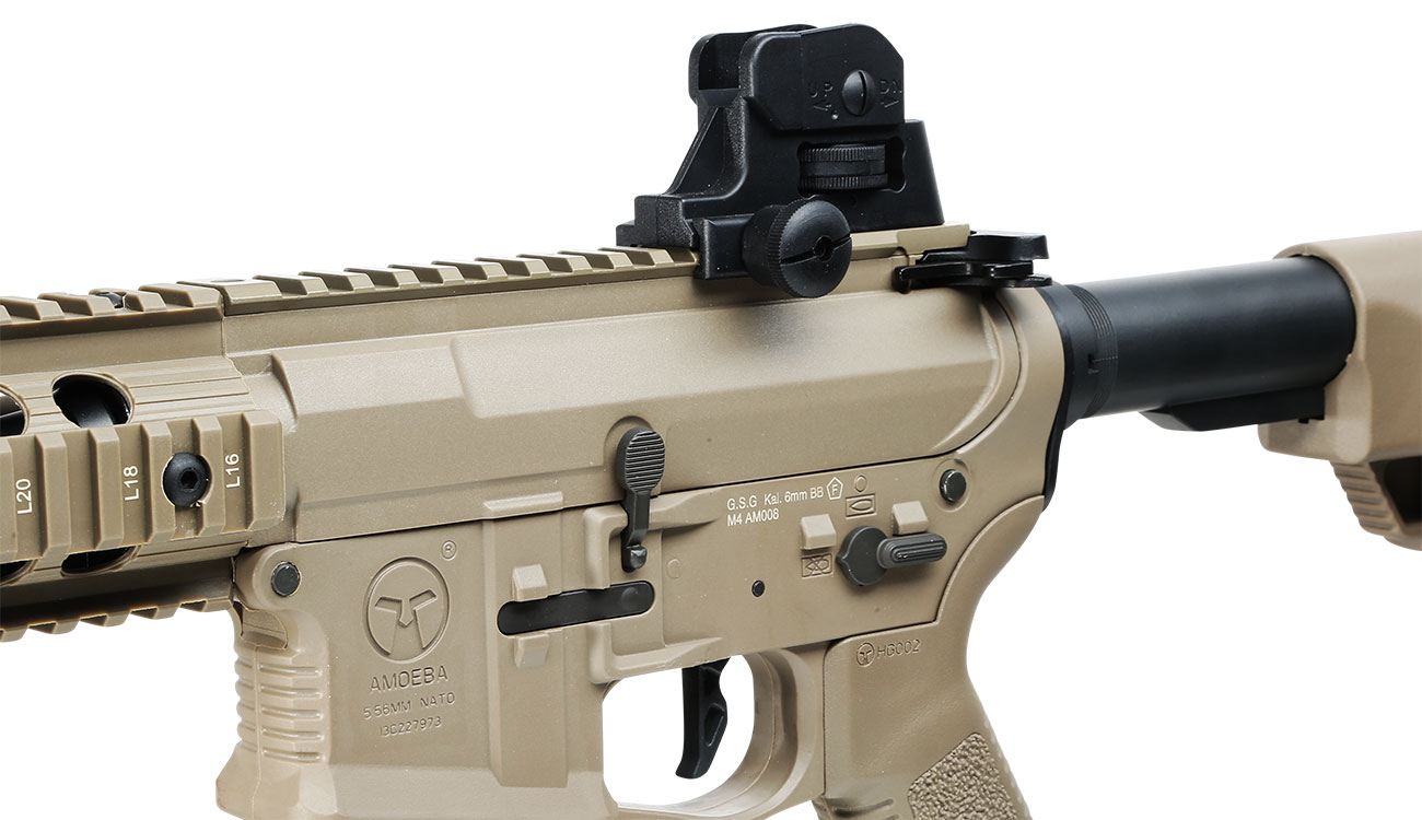 Ares Amoeba M4 CG-002 EFC-System S-AEG 6mm BB Dark Earth 7