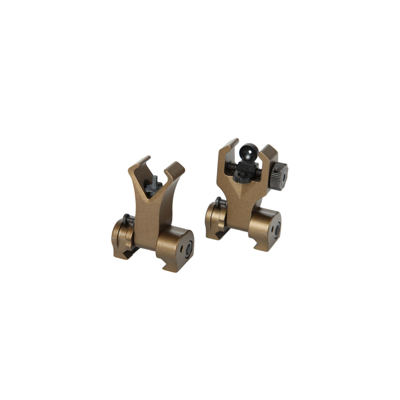 G&G Flip-Up Battle Sight Set Front / Rear für 21mm Schienen Desert Tan 2
