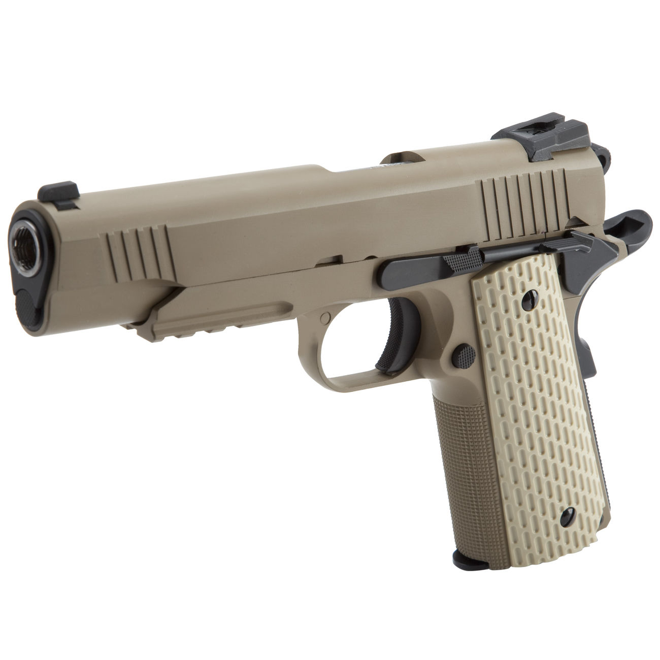 Wei-ETech Kbr-Style Warrior .45 ACP Vollmetall GBB 6mm BB Desert Tan 0