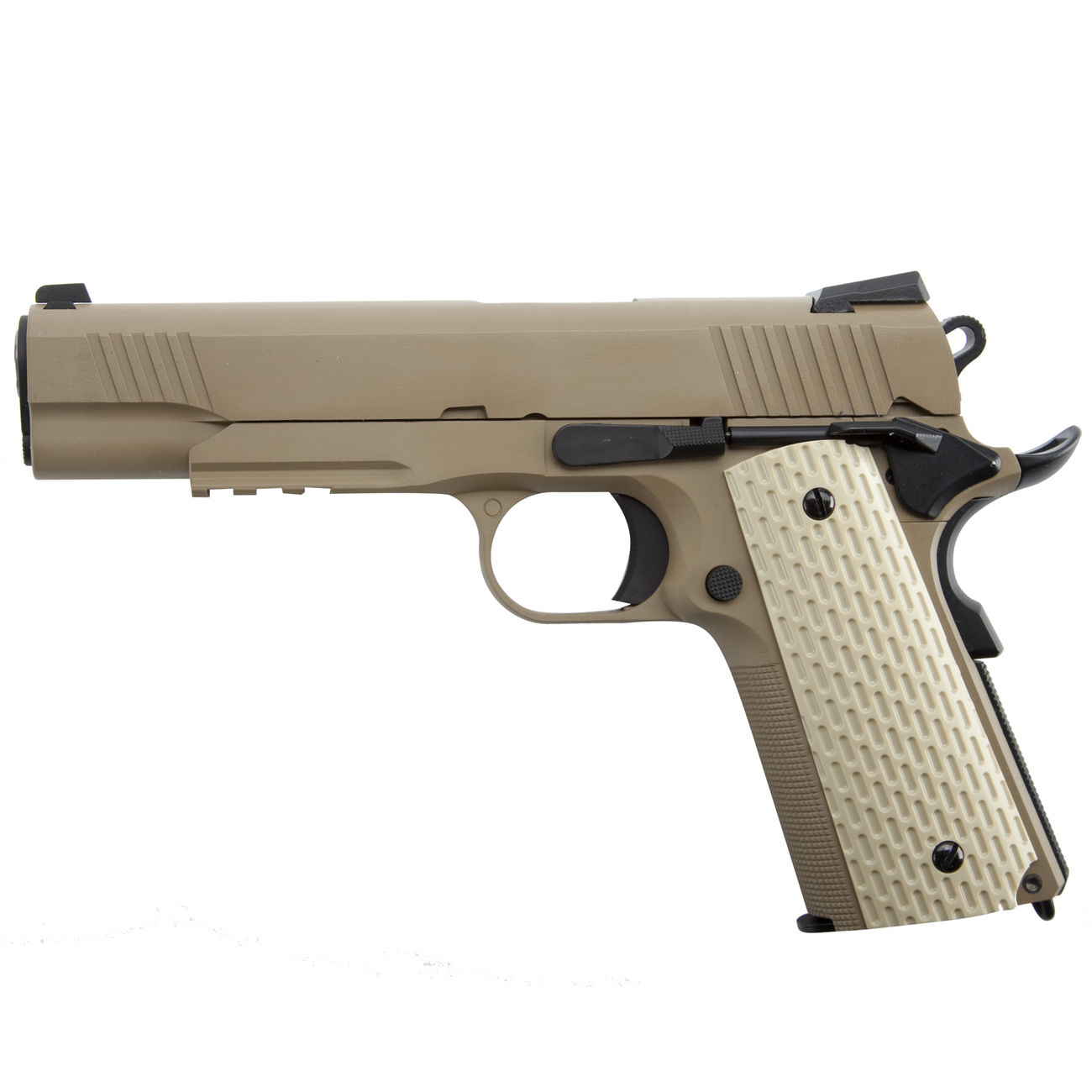 Wei-ETech Kbr-Style Warrior .45 ACP Vollmetall GBB 6mm BB Desert Tan 1