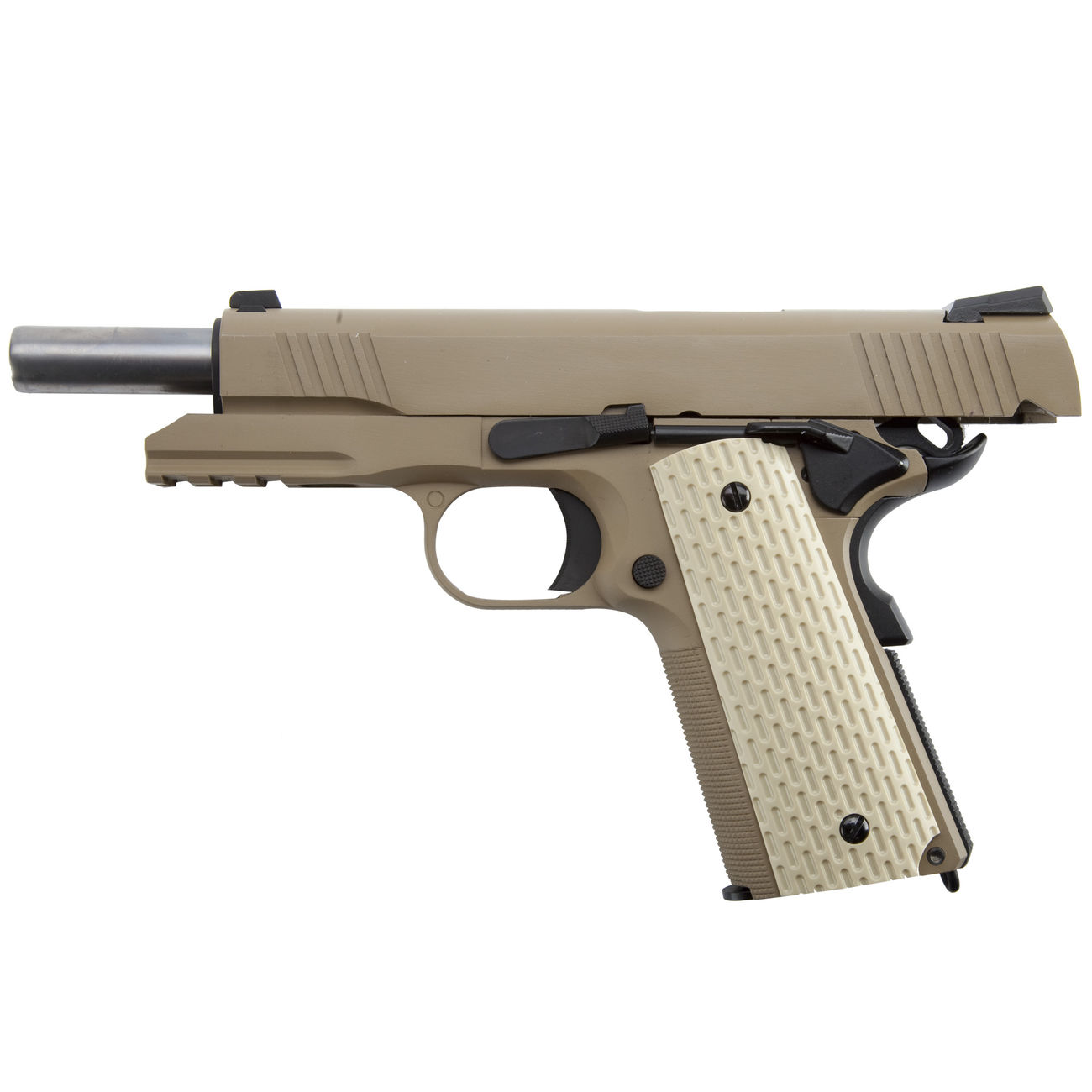 Wei-ETech Kbr-Style Warrior .45 ACP Vollmetall GBB 6mm BB Desert Tan 2