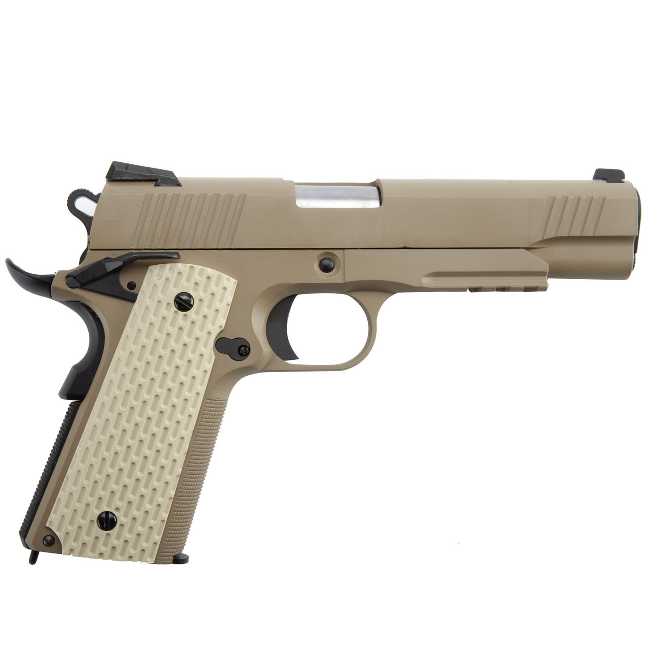 Wei-ETech Kbr-Style Warrior .45 ACP Vollmetall GBB 6mm BB Desert Tan 3