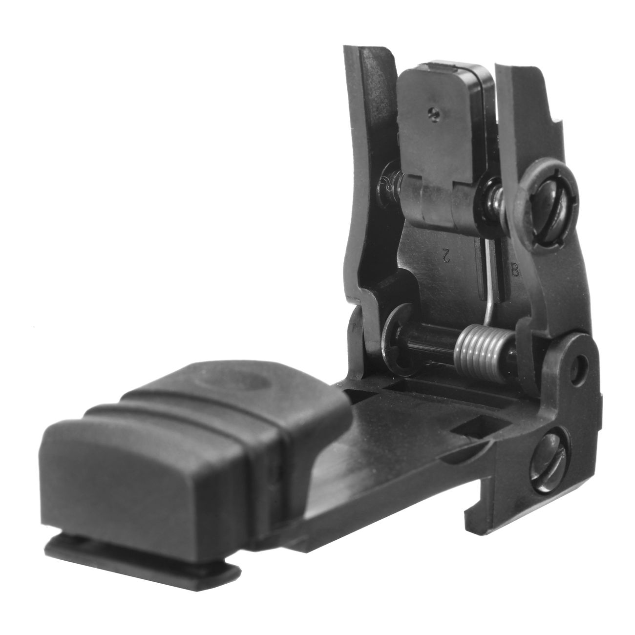 MFT BUPSWR Polymer Flip-Up Rear Sight f. 21mm Schienen schwarz 1