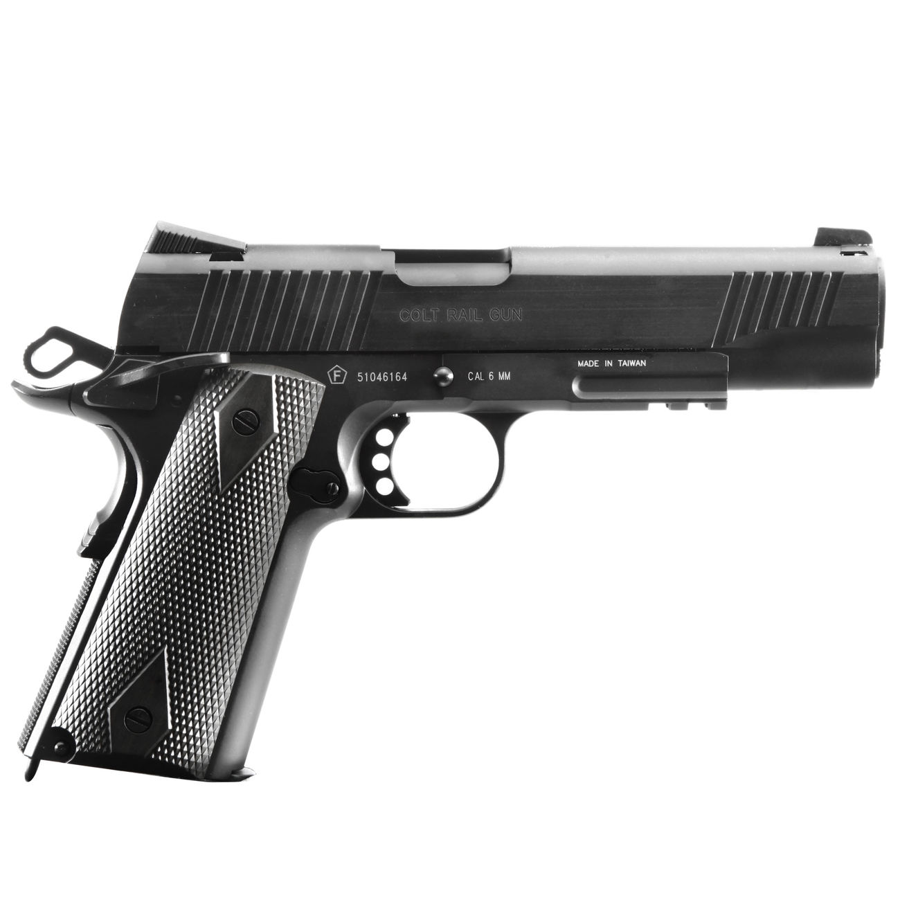 Cybergun Colt 1911 Rail Gun Vollmetall CO2 BlowBack 6mm BB schwarz 2