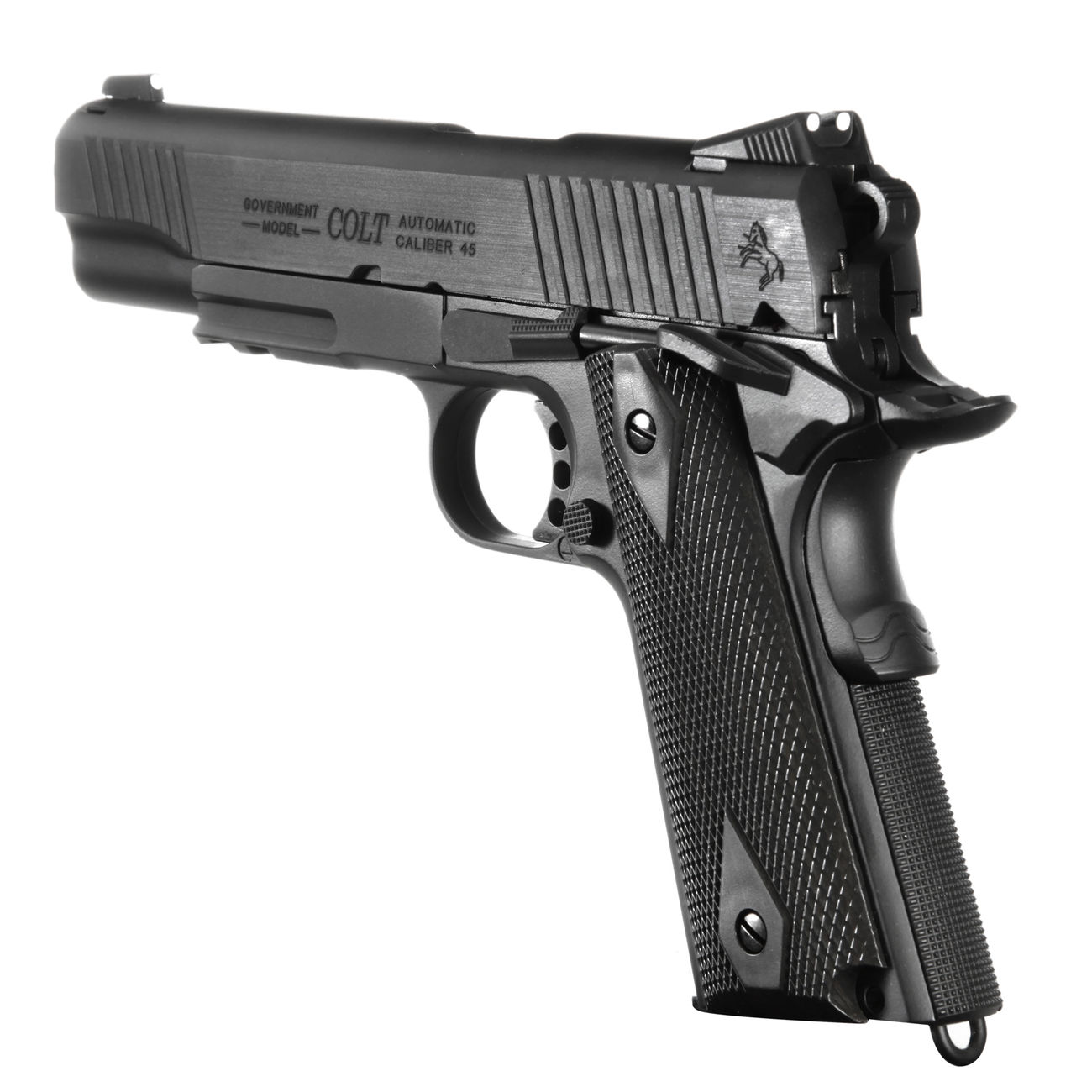 Cybergun Colt 1911 Rail Gun Vollmetall CO2 BlowBack 6mm BB schwarz 3