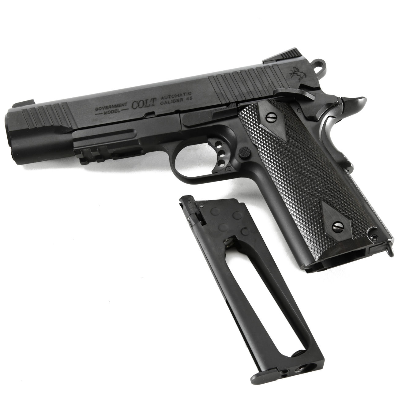 Cybergun Colt 1911 Rail Gun Vollmetall CO2 BlowBack 6mm BB schwarz 4