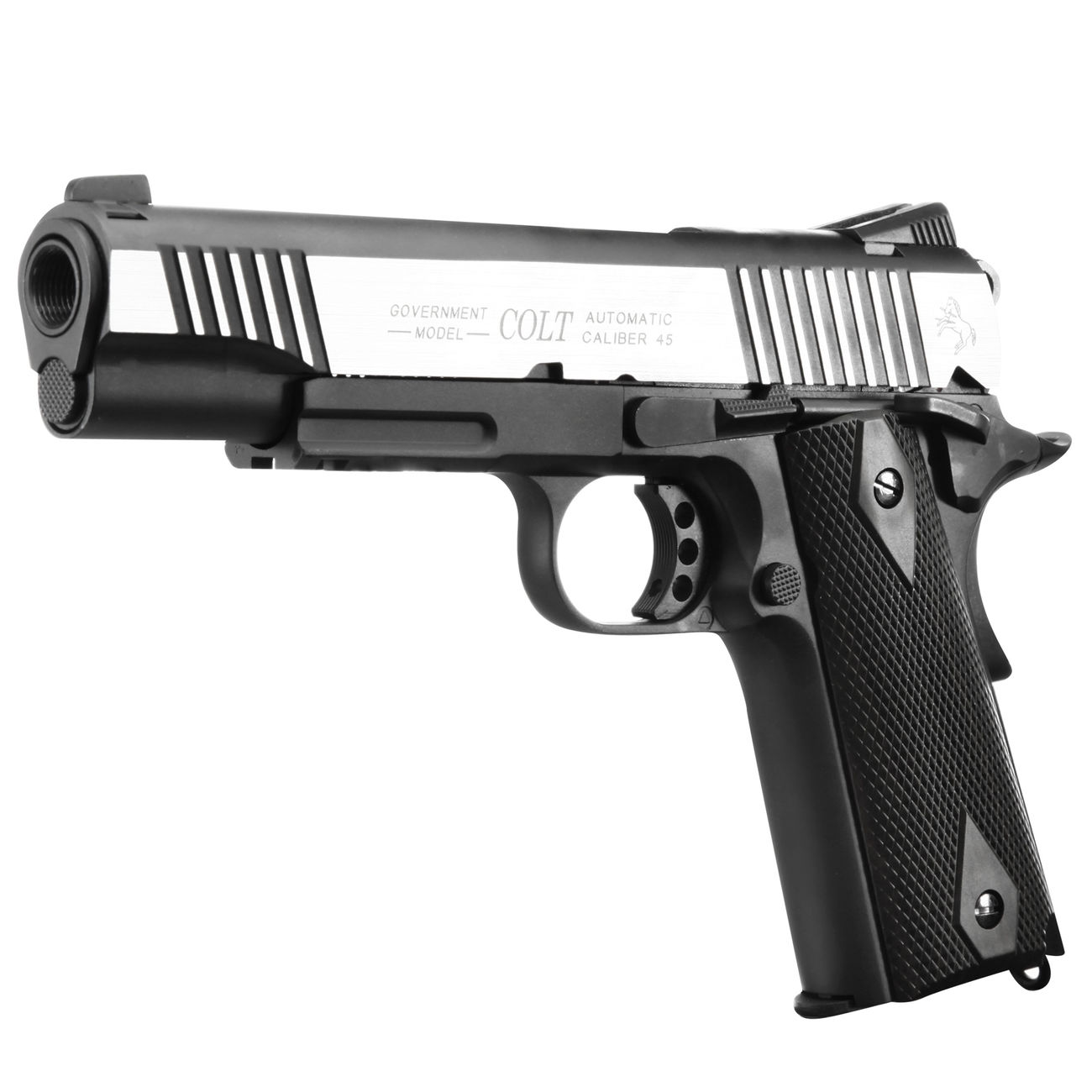 Cybergun Colt 1911 Rail Gun Vollmetall CO2 BlowBack 6mm BB Bicolor-Version 0