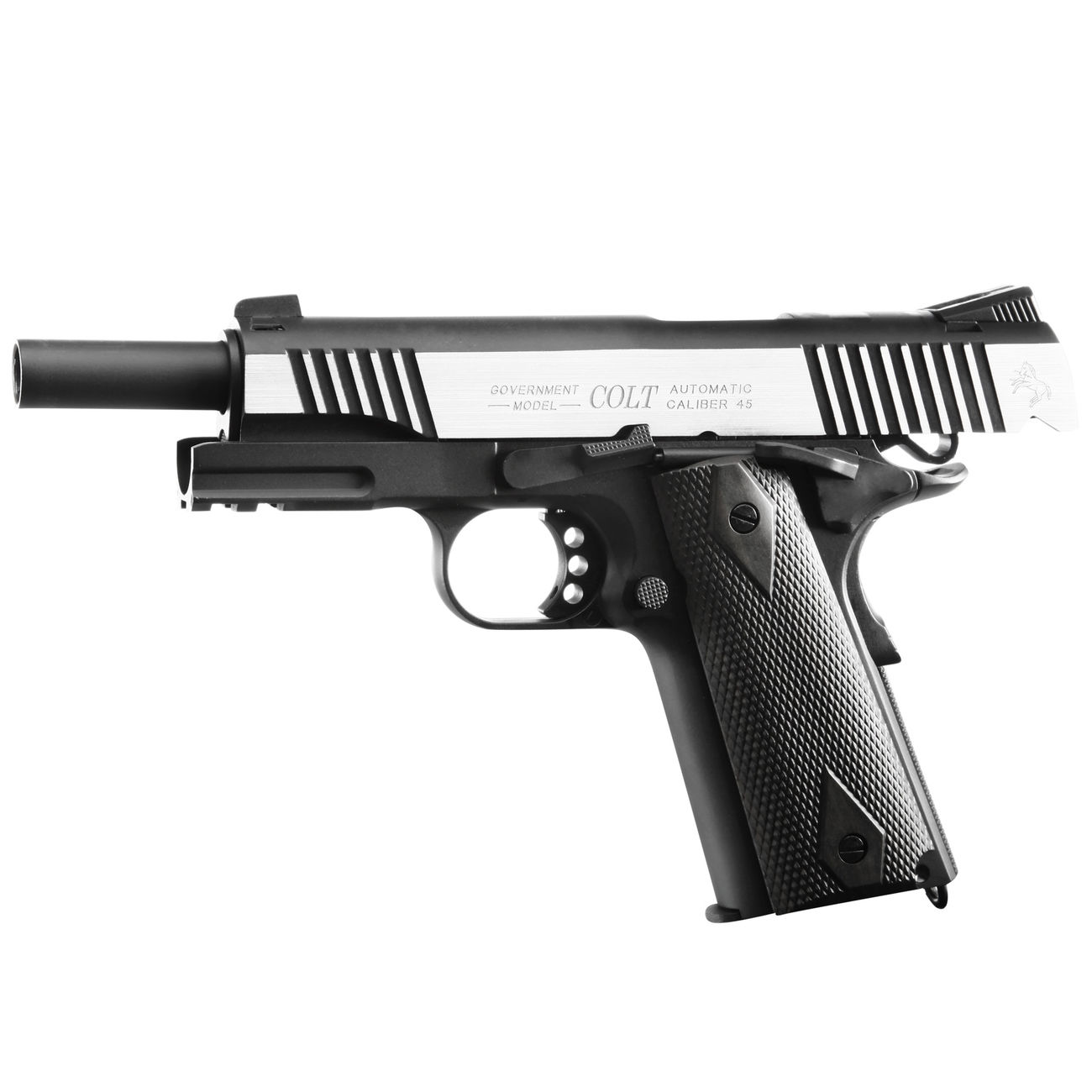 Cybergun Colt 1911 Rail Gun Vollmetall CO2 BlowBack 6mm BB Bicolor-Version 1