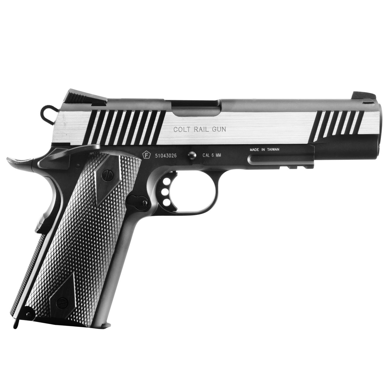 Cybergun Colt 1911 Rail Gun Vollmetall CO2 BlowBack 6mm BB Bicolor-Version 2