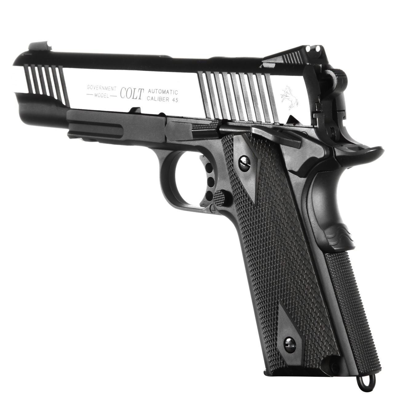 Cybergun Colt 1911 Rail Gun Vollmetall CO2 BlowBack 6mm BB Bicolor-Version 3