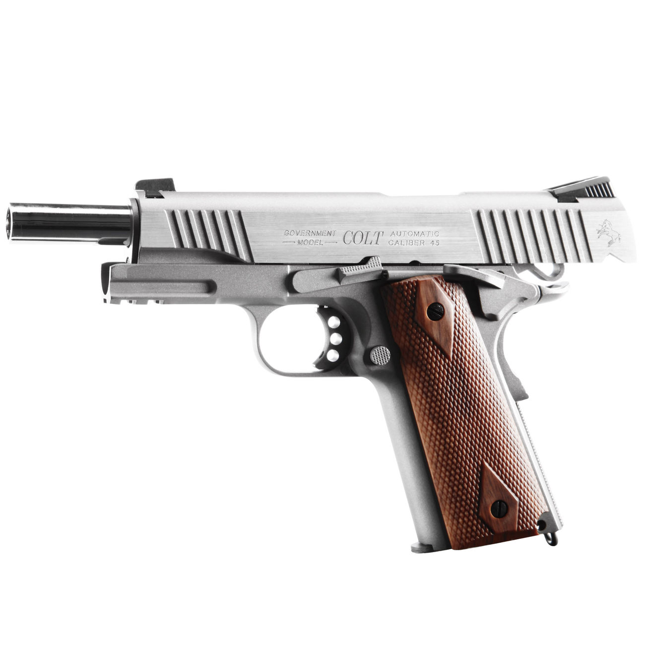 Cybergun Colt 1911 Rail Gun Vollmetall CO2 BlowBack 6mm BB Stainless-Version 1