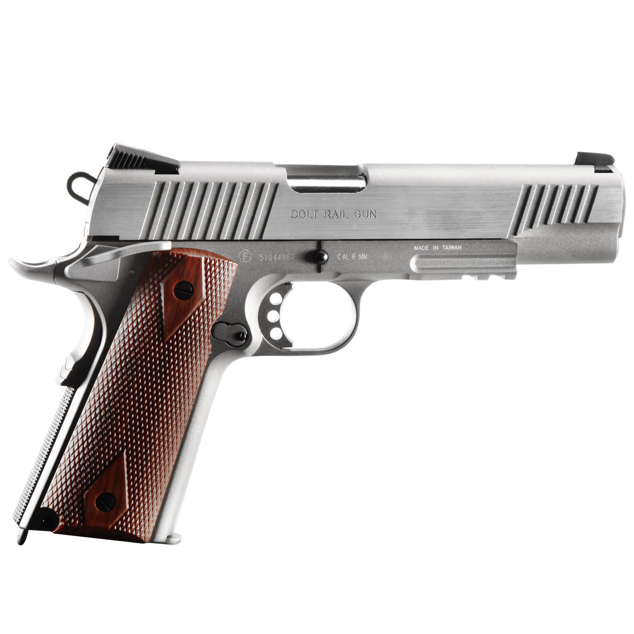 Cybergun Colt 1911 Rail Gun Vollmetall CO2 BlowBack 6mm BB Stainless-Version 2