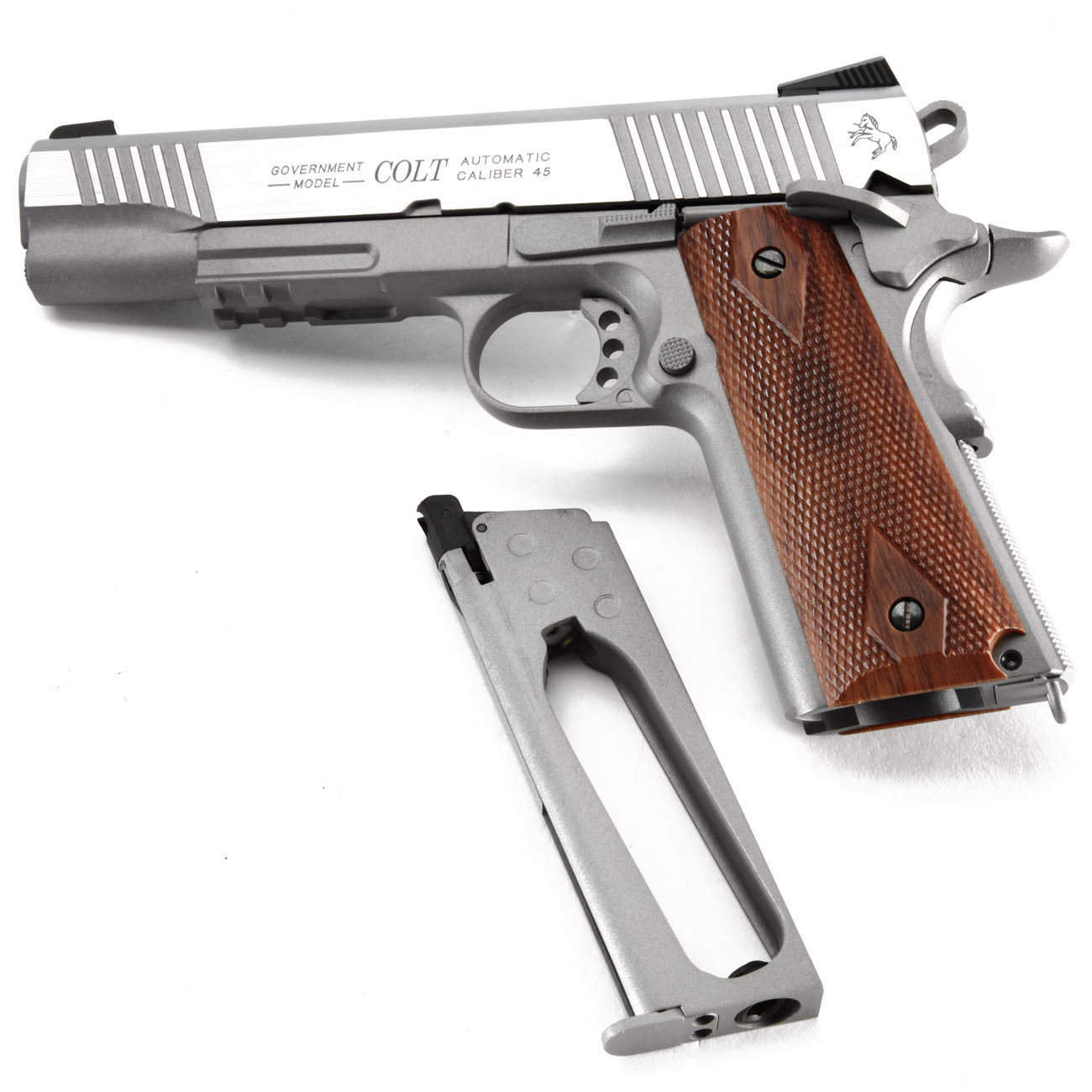 Cybergun Colt 1911 Rail Gun Vollmetall CO2 BlowBack 6mm BB Stainless-Version 4