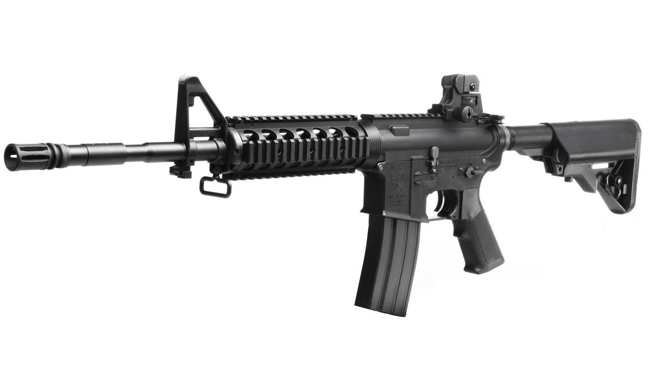 King Arms M4 RIS Sopmod Carbine Ultra Grade S-AEG 6mm BB schwarz 0
