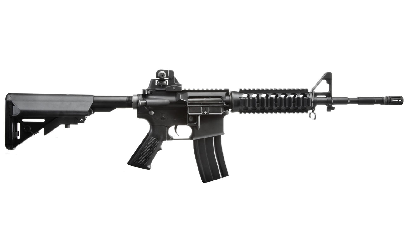 King Arms M4 RIS Sopmod Carbine Ultra Grade S-AEG 6mm BB schwarz 2