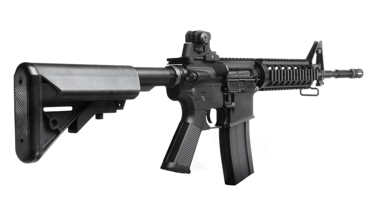 King Arms M4 RIS Sopmod Carbine Ultra Grade S-AEG 6mm BB schwarz 3