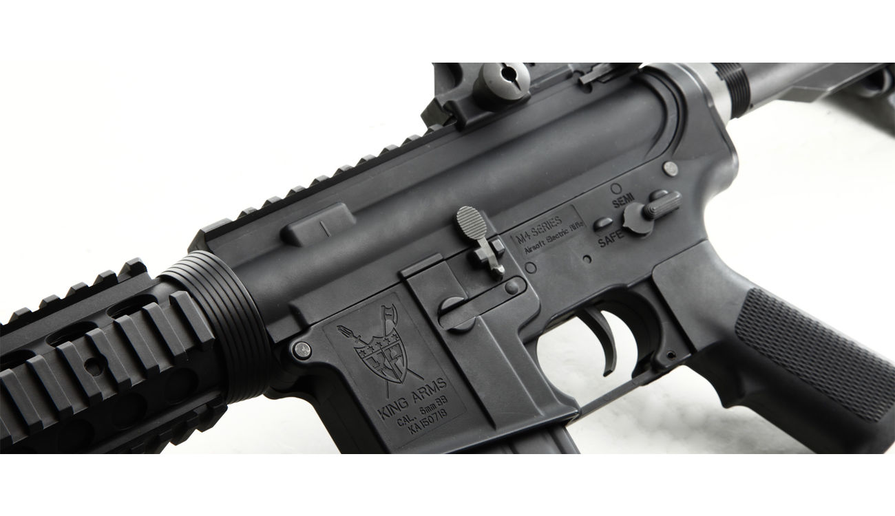 King Arms M4 RIS Sopmod Carbine Ultra Grade S-AEG 6mm BB schwarz 4