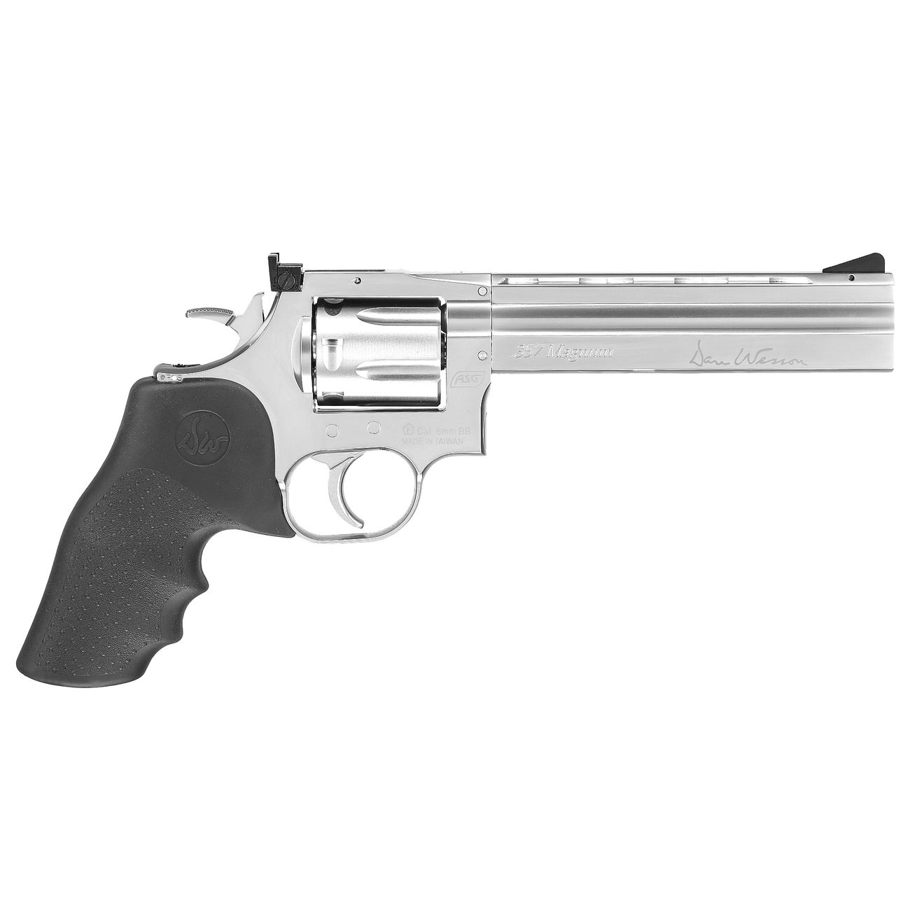 ASG Dan Wesson 715 6 Zoll Revolver Vollmetall CO2 6mm BB chrom Low Power Version 2