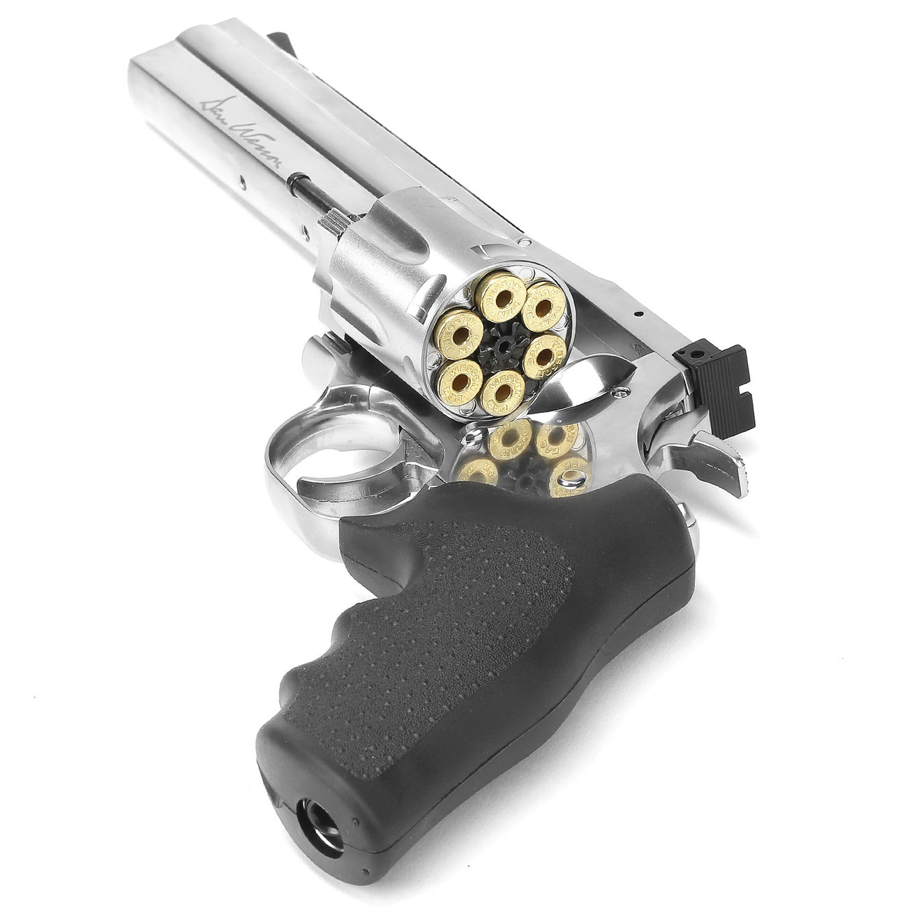 ASG Dan Wesson 715 6 Zoll Revolver Vollmetall CO2 6mm BB chrom Low Power Version 4
