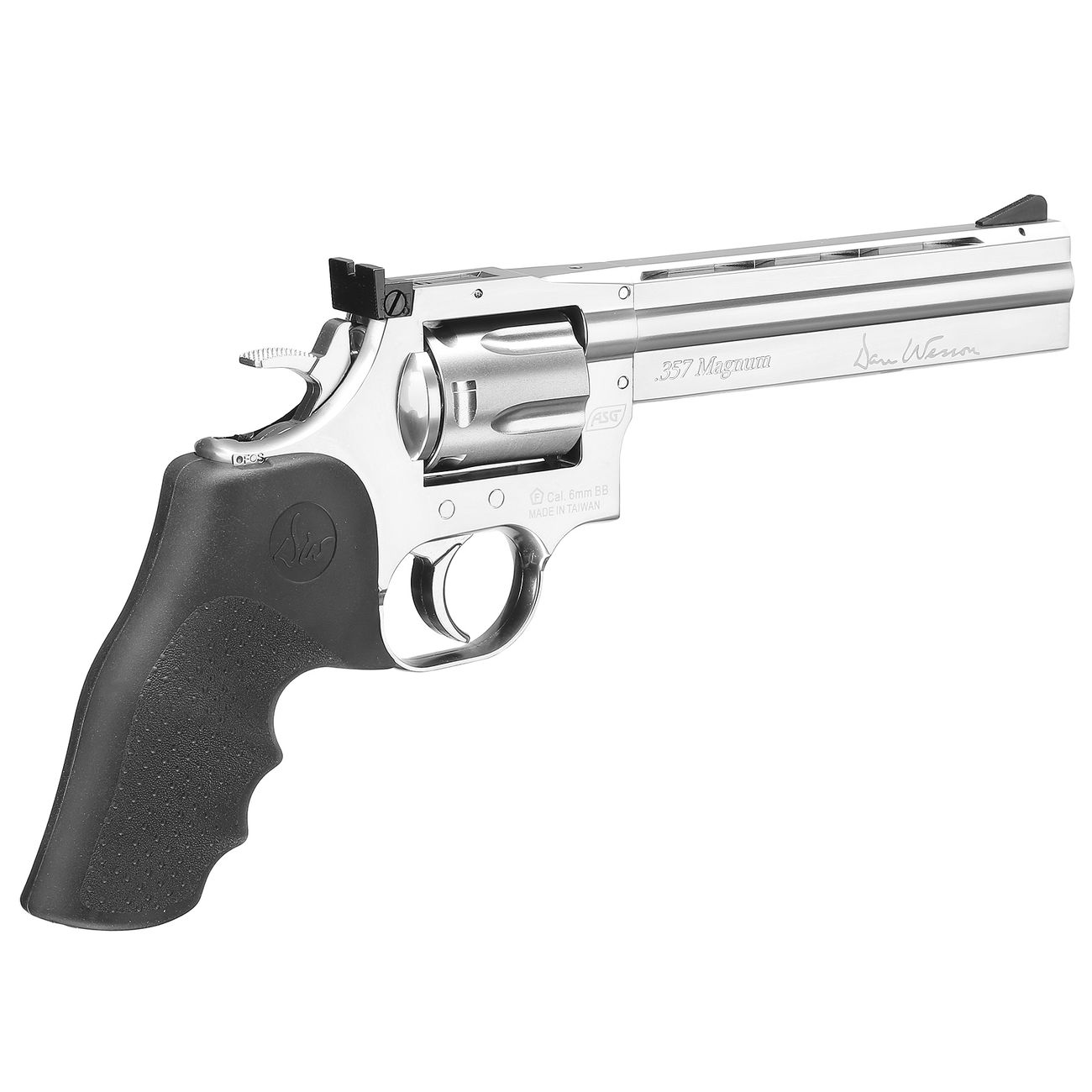 ASG Dan Wesson 715 6 Zoll Revolver Vollmetall CO2 6mm BB chrom Low Power Version 5