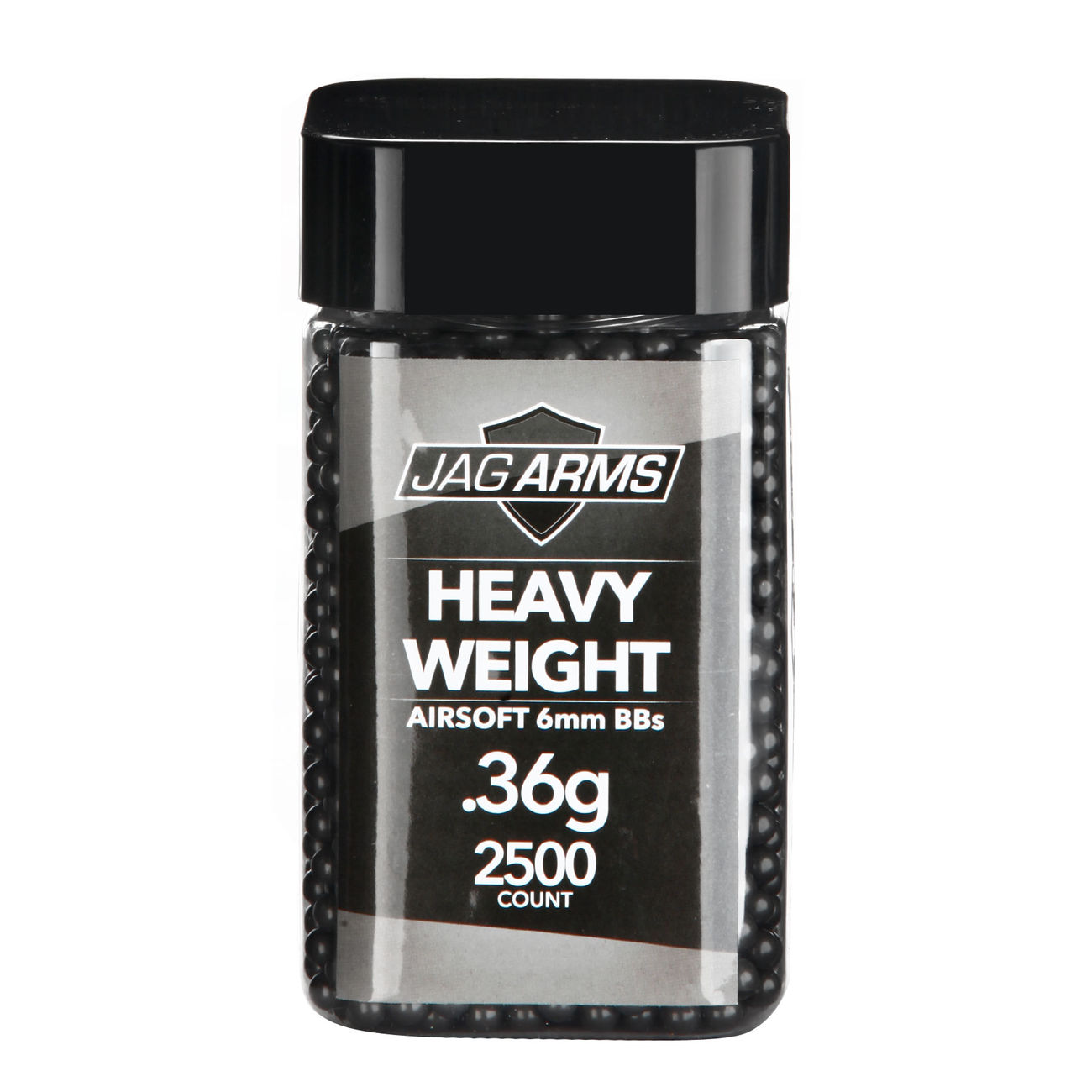 Jag Arms Heavy Weight Series BBs 0,36g 2.500er Container dunkelgrau 0