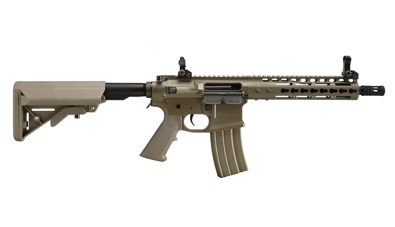 Socom Gear Noveske N4 Gen. III NSR9 10.5 Zoll Vollmetall S-AEG 6mm BB Dark Earth Tan 2