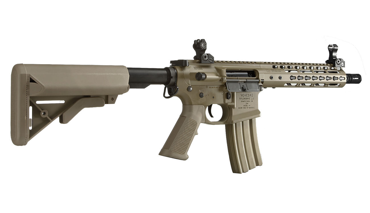 Socom Gear Noveske N4 Gen. III NSR9 10.5 Zoll Vollmetall S-AEG 6mm BB Dark Earth Tan 3