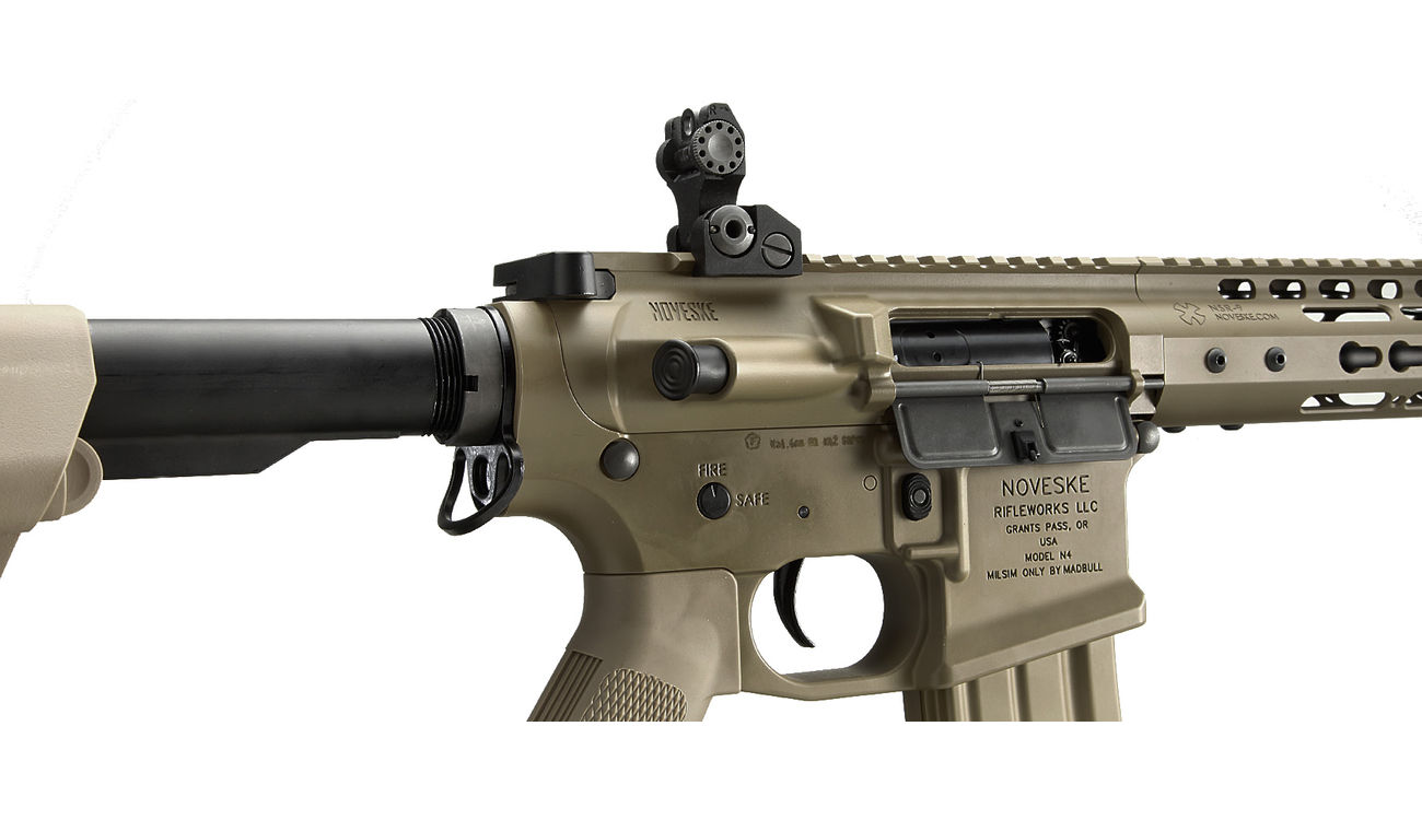 Socom Gear Noveske N4 Gen. III NSR9 10.5 Zoll Vollmetall S-AEG 6mm BB Dark Earth Tan 4
