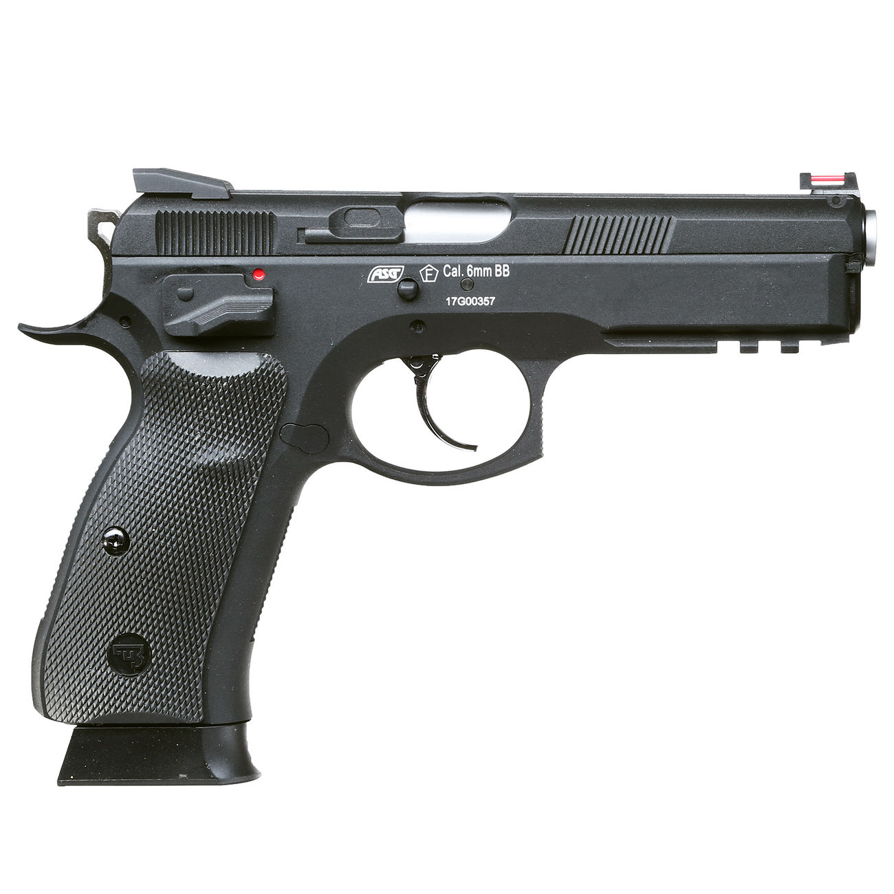 KJ Works CZ 75 SP-01 Shadow Vollmetall GBB 6mm BB schwarz 2