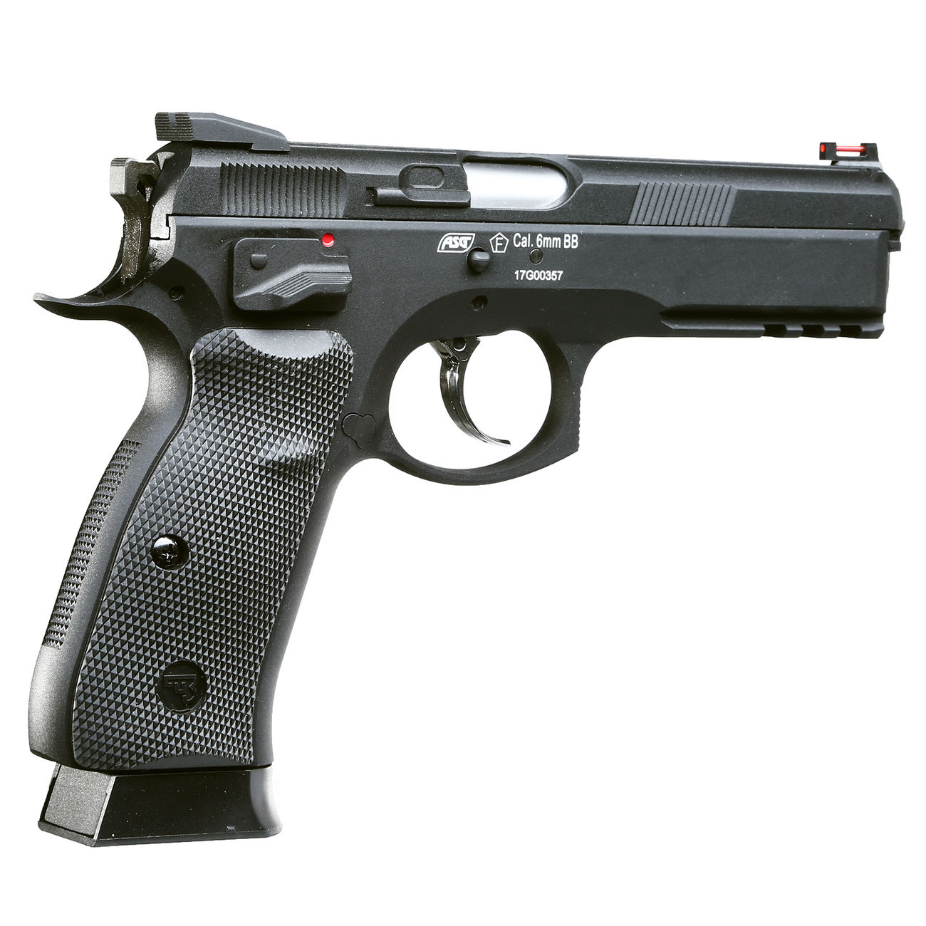 KJ Works CZ 75 SP-01 Shadow Vollmetall GBB 6mm BB schwarz 3
