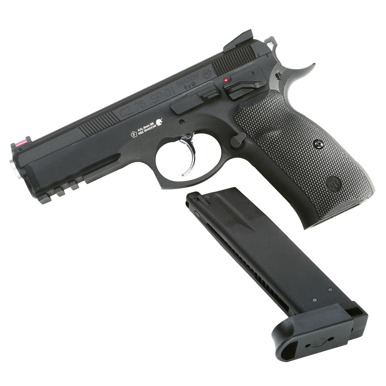KJ Works CZ 75 SP-01 Shadow Vollmetall GBB 6mm BB schwarz 4