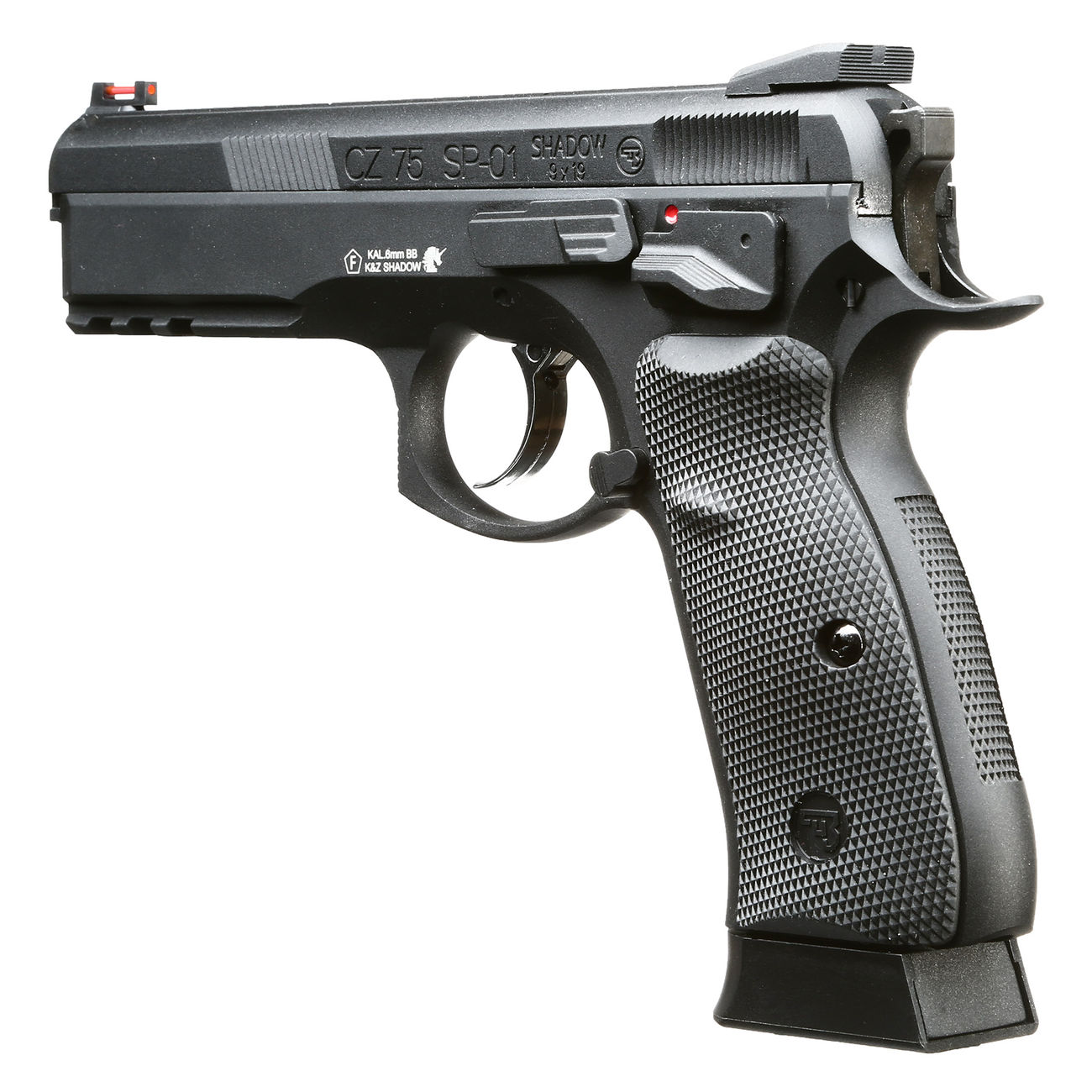 KJ Works CZ 75 SP-01 Shadow Vollmetall GBB 6mm BB schwarz 5