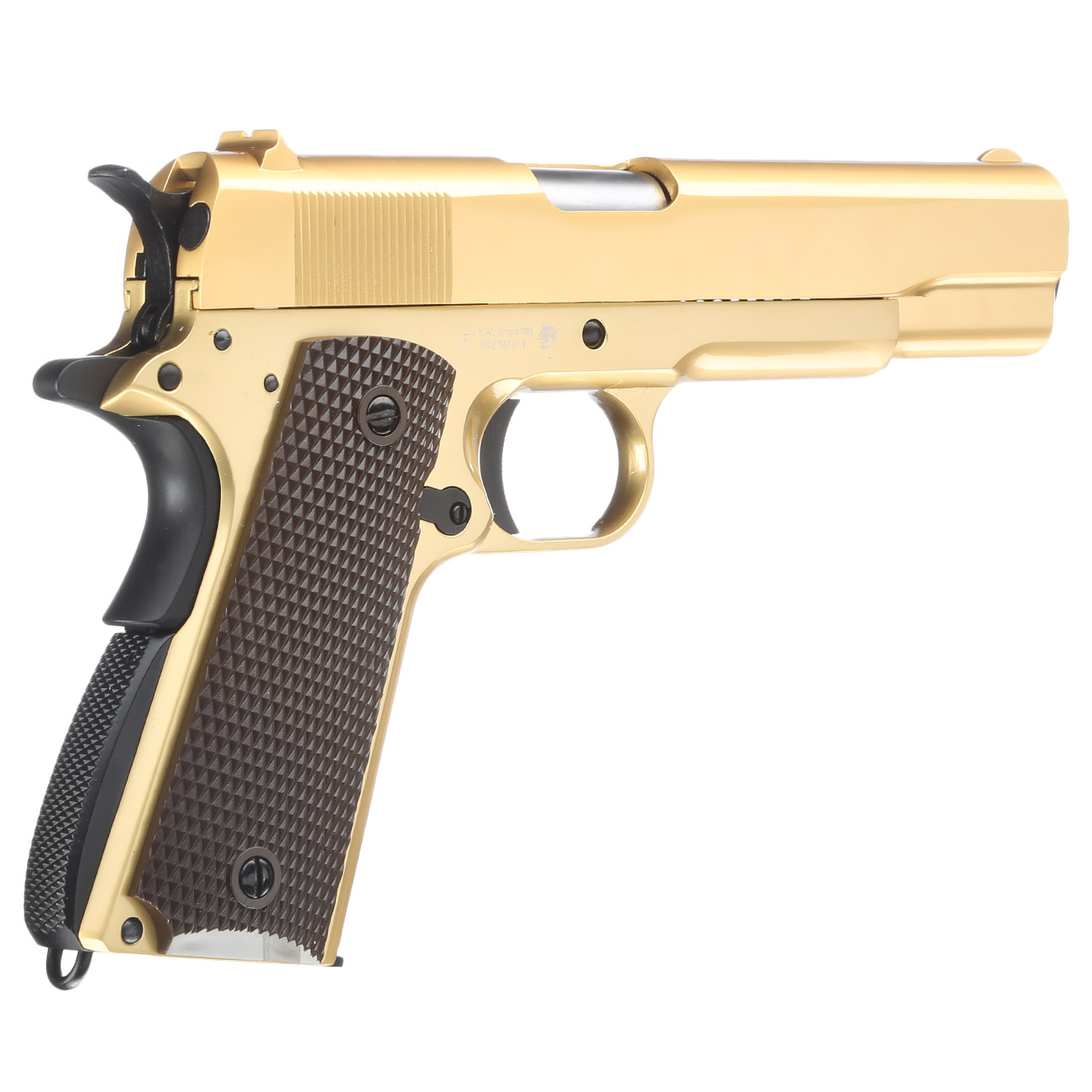 Wei Etech M1911 Vollmetall Gbb 6mm Bb 24k Gold Plated Edition