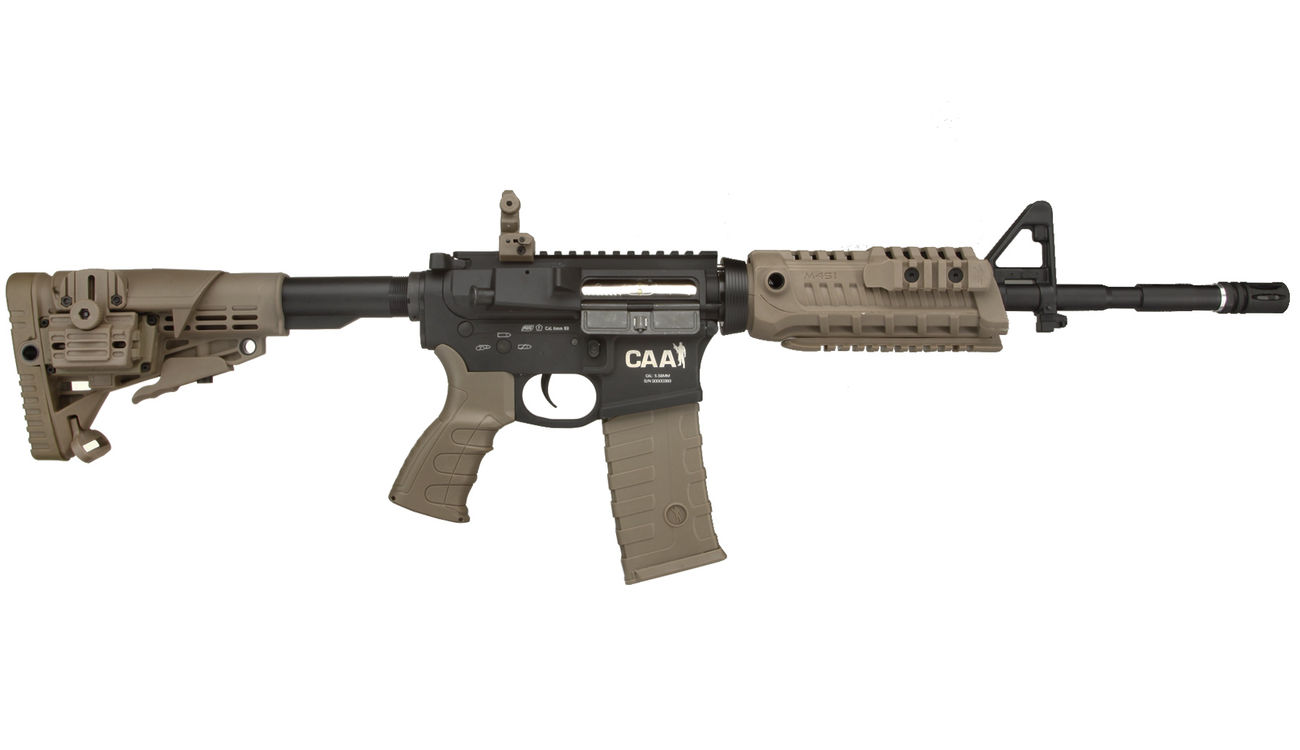 CAA Airsoft Division M4 Carbine Vollmetall S-AEG 6mm BB Dark Earth 2