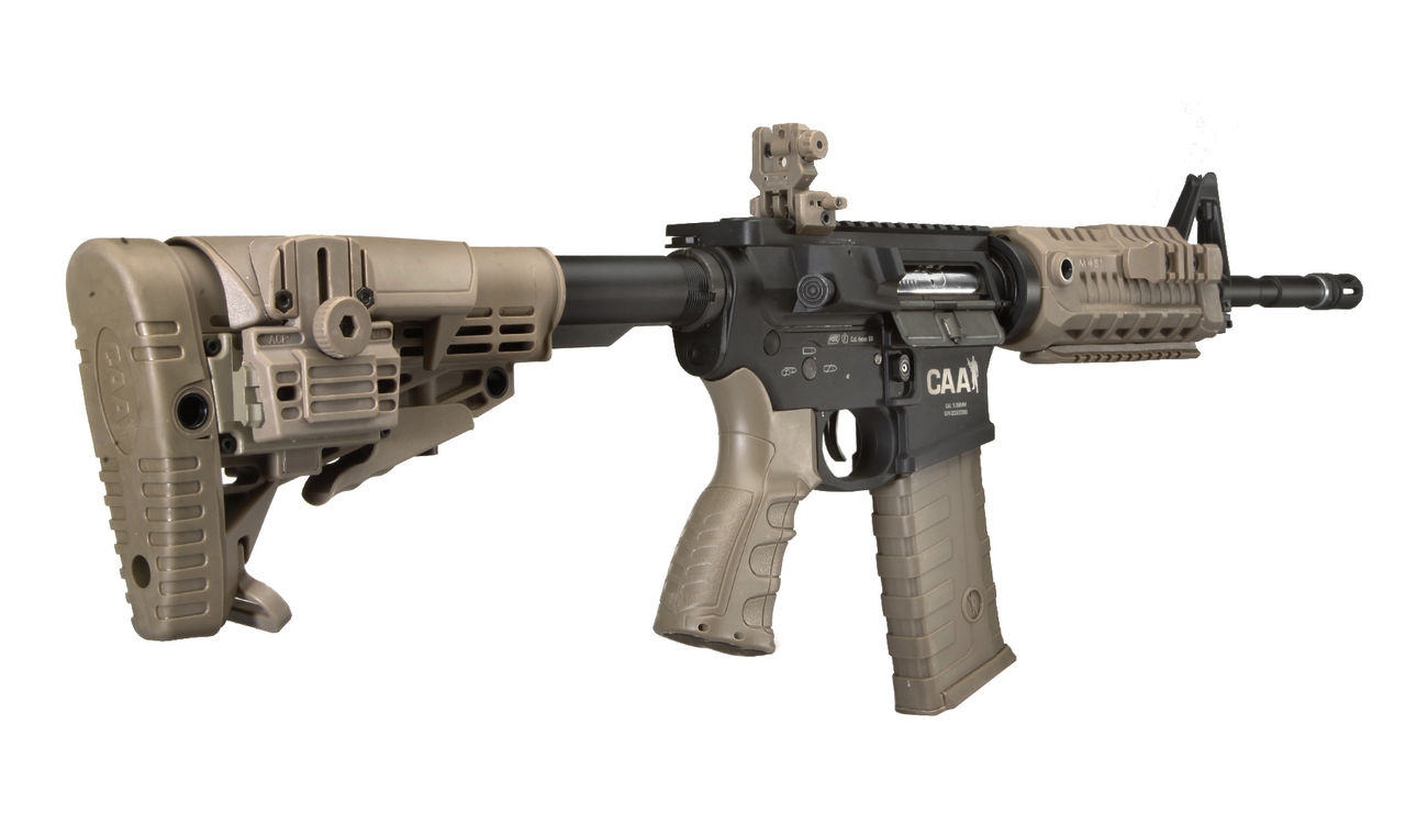 CAA Airsoft Division M4 Carbine Vollmetall S-AEG 6mm BB Dark Earth 3