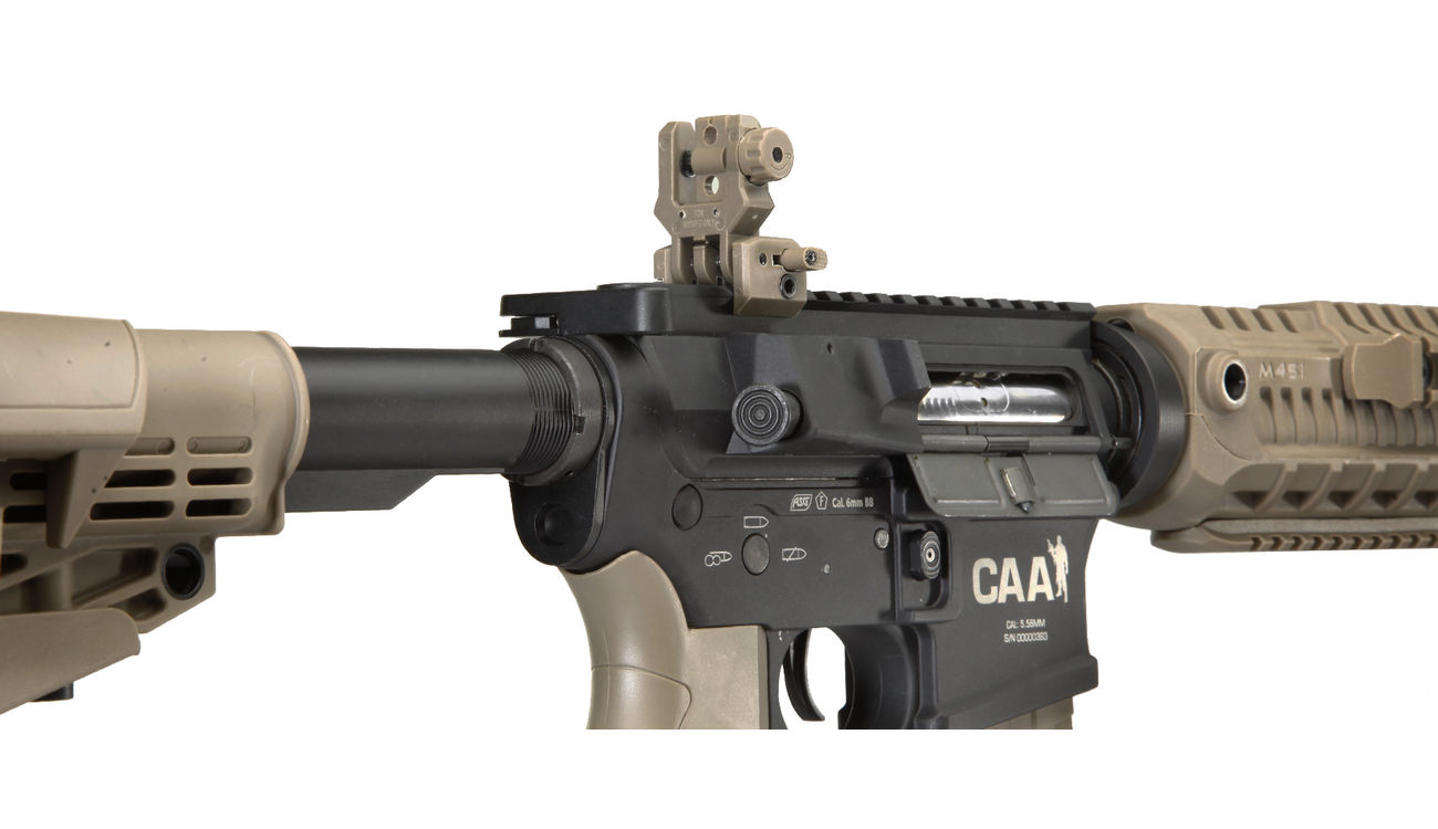 CAA Airsoft Division M4 Carbine Vollmetall S-AEG 6mm BB Dark Earth 4
