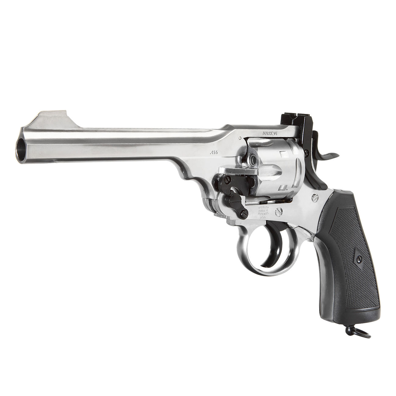 Gun Heaven Webley MK VI Revolver Vollmetall CO2 6mm BB chrom 0