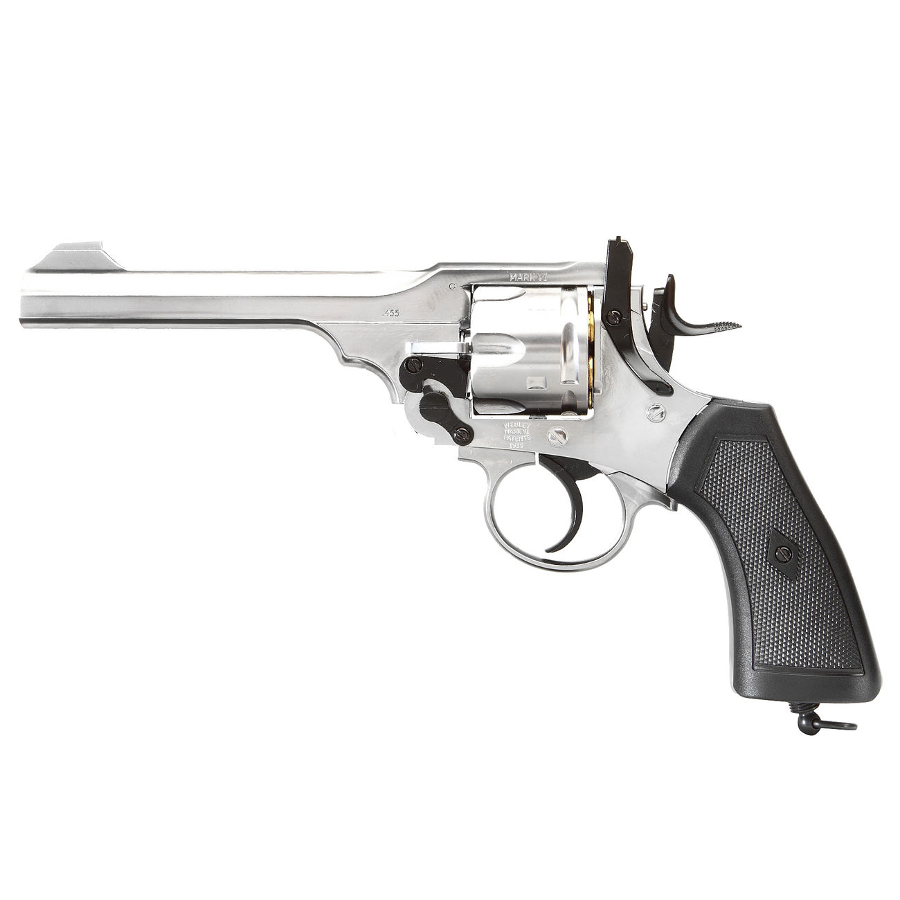 Gun Heaven Webley MK VI Revolver Vollmetall CO2 6mm BB chrom 1