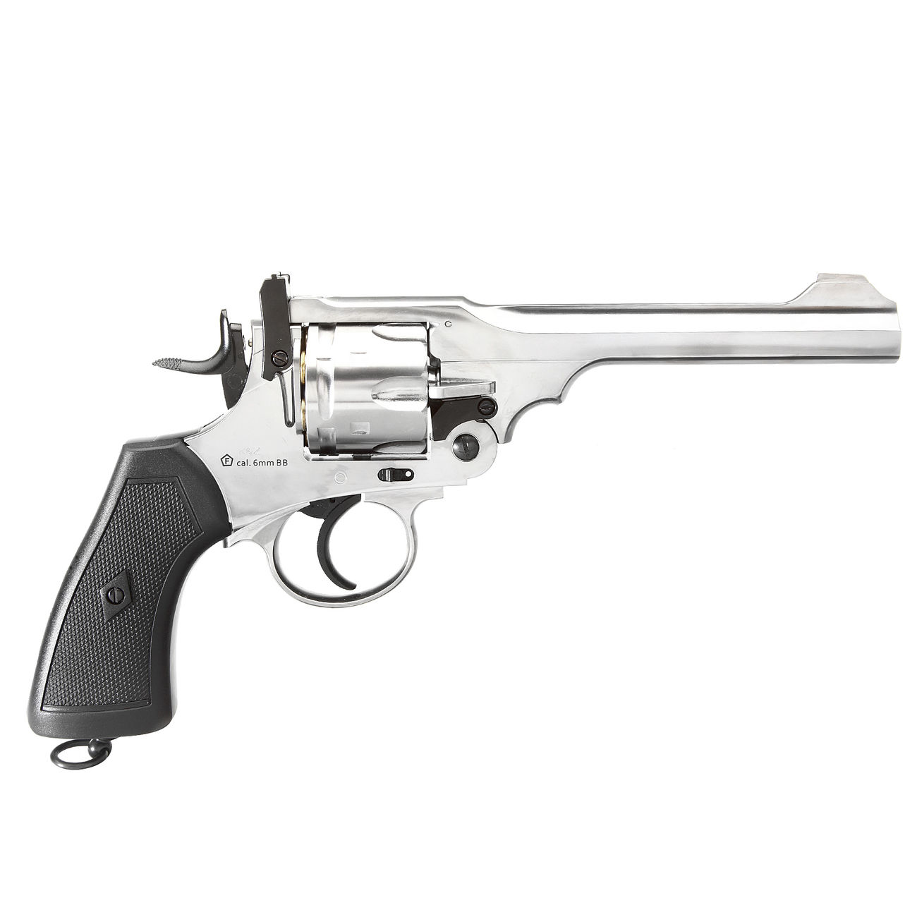 Gun Heaven Webley MK VI Revolver Vollmetall CO2 6mm BB chrom 2