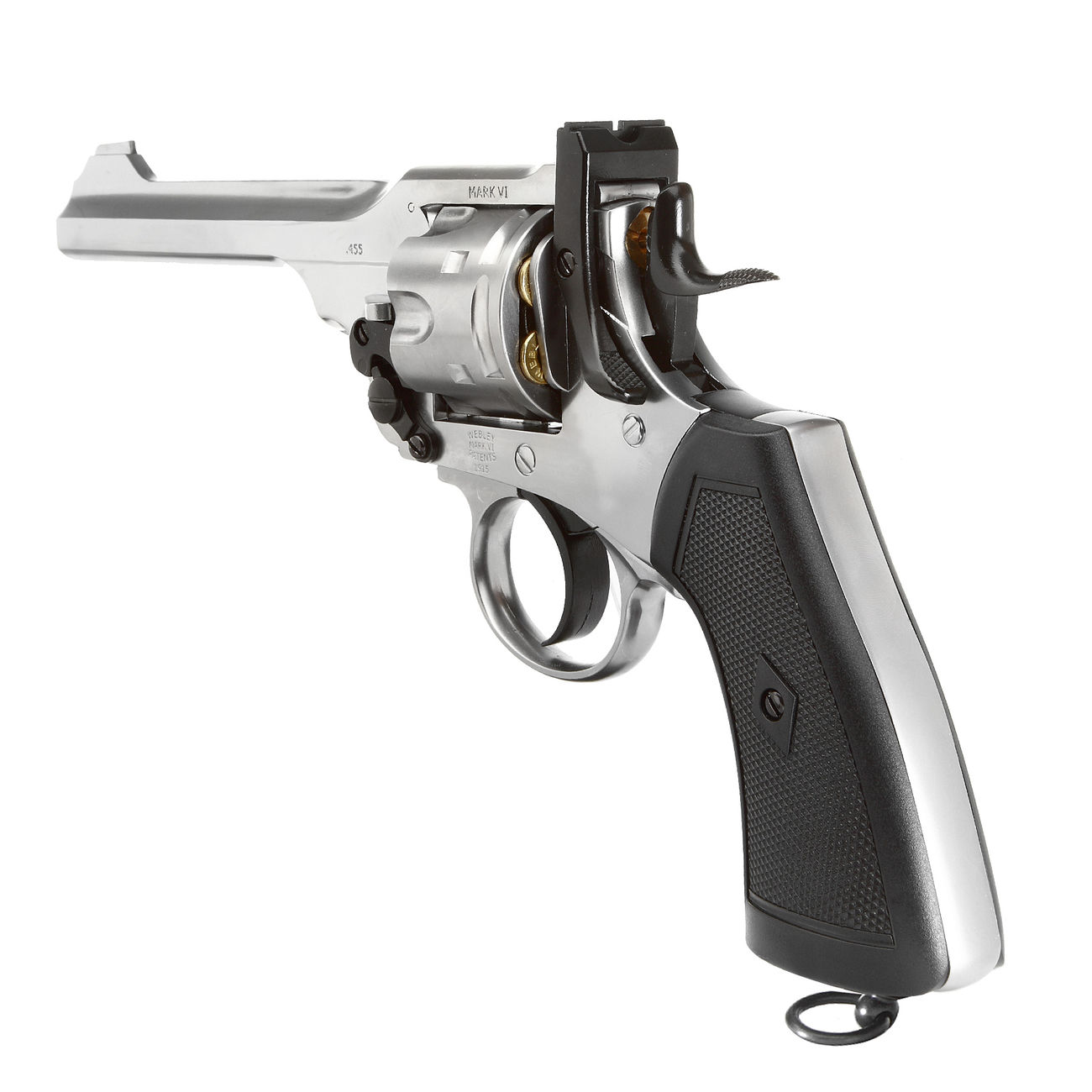 Gun Heaven Webley MK VI Revolver Vollmetall CO2 6mm BB chrom 3