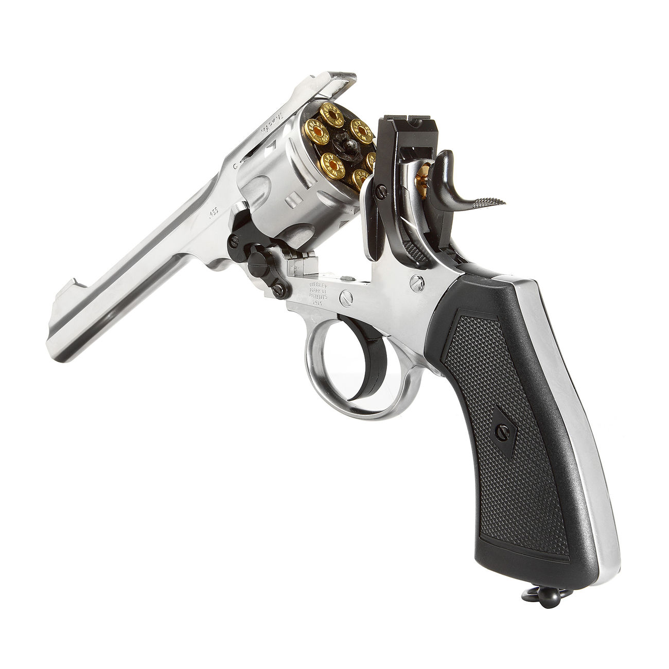 Gun Heaven Webley MK VI Revolver Vollmetall CO2 6mm BB chrom 4