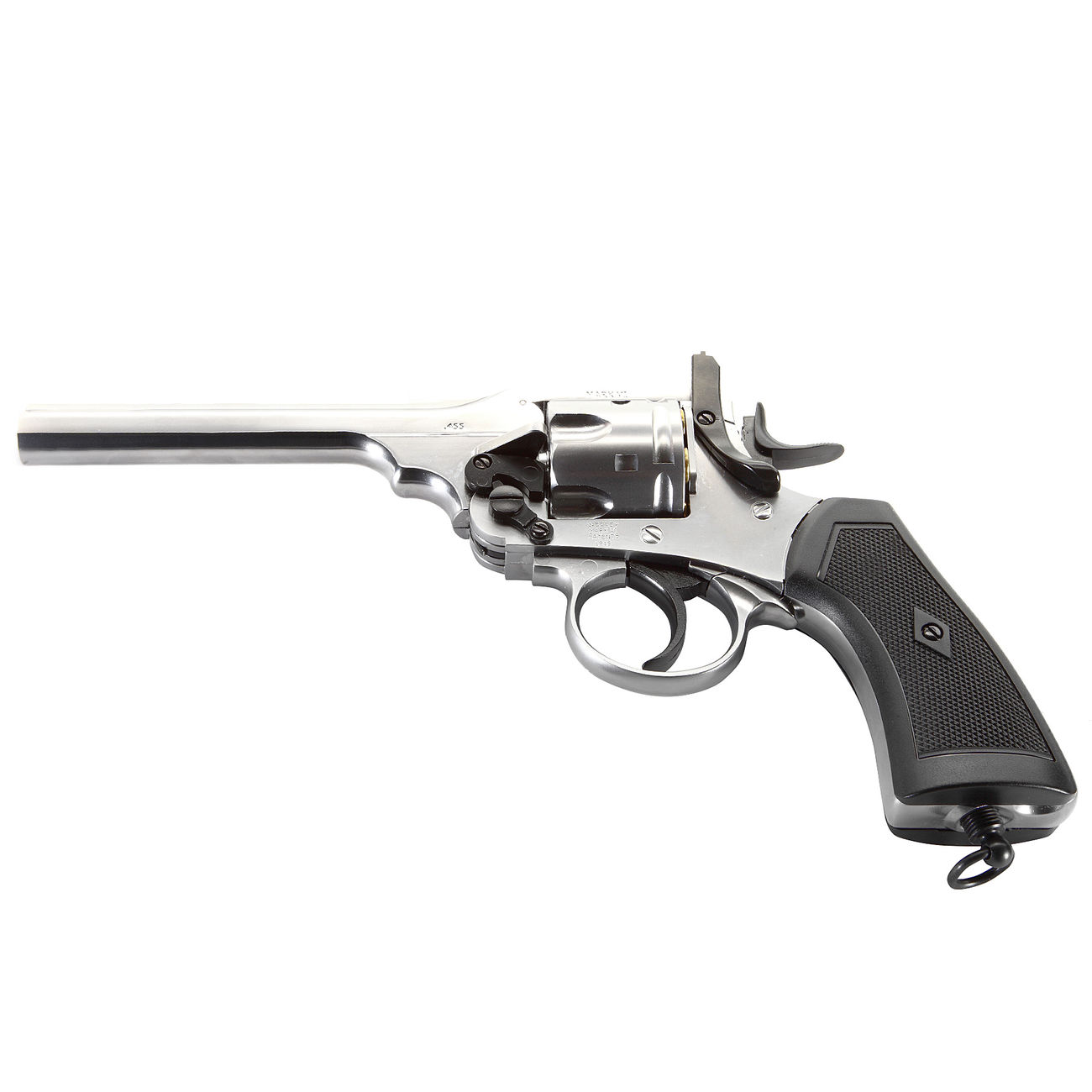 Gun Heaven Webley MK VI Revolver Vollmetall CO2 6mm BB chrom 5