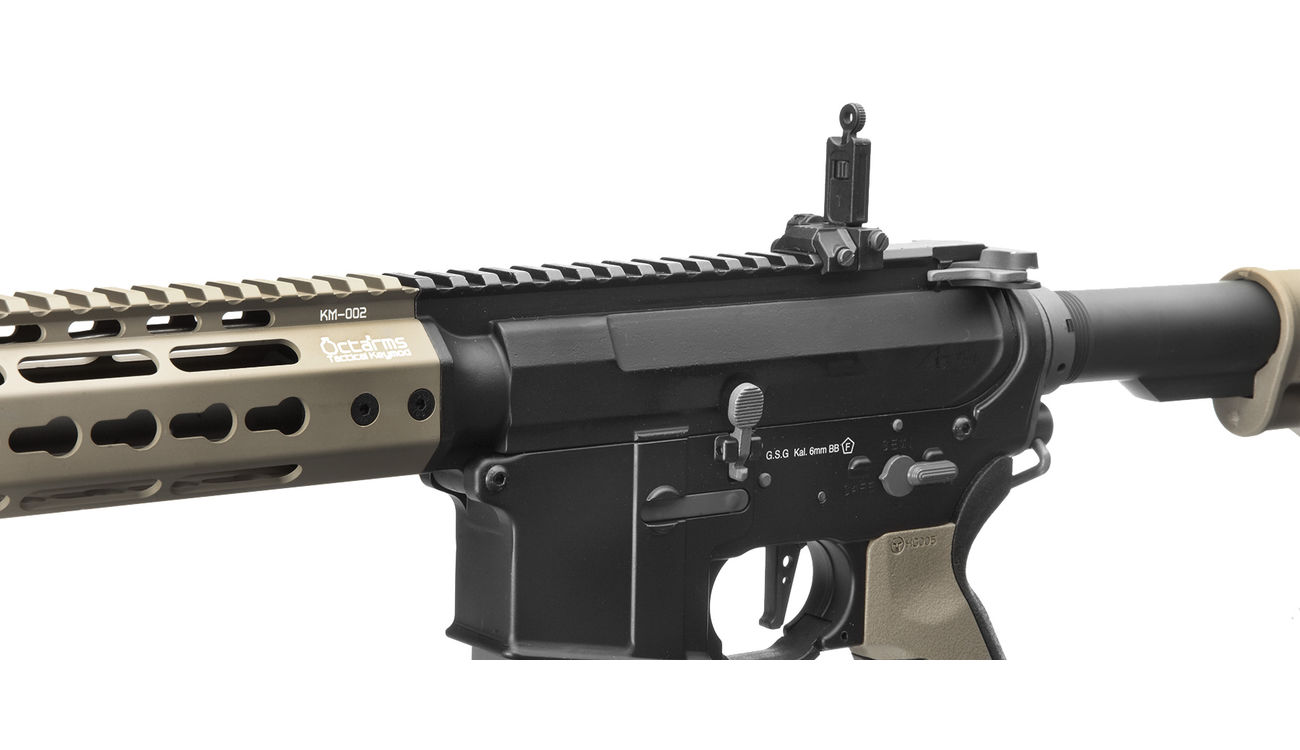 Ares Octarms X Amoeba M4-KM13 Pro Vollmetall EFCS-System Gen. 3 S-AEG 6mm BB Dark Earth 5