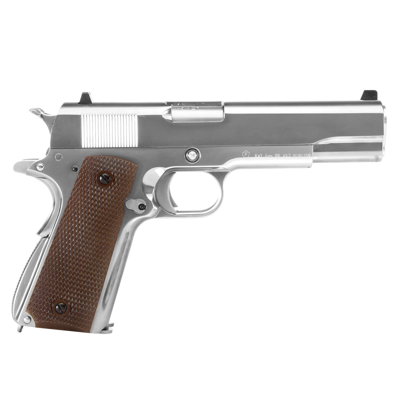 Wei-ETech M1911 Double Barrel Vollmetall GBB 6mm BB Chrome-Finish Edition 2