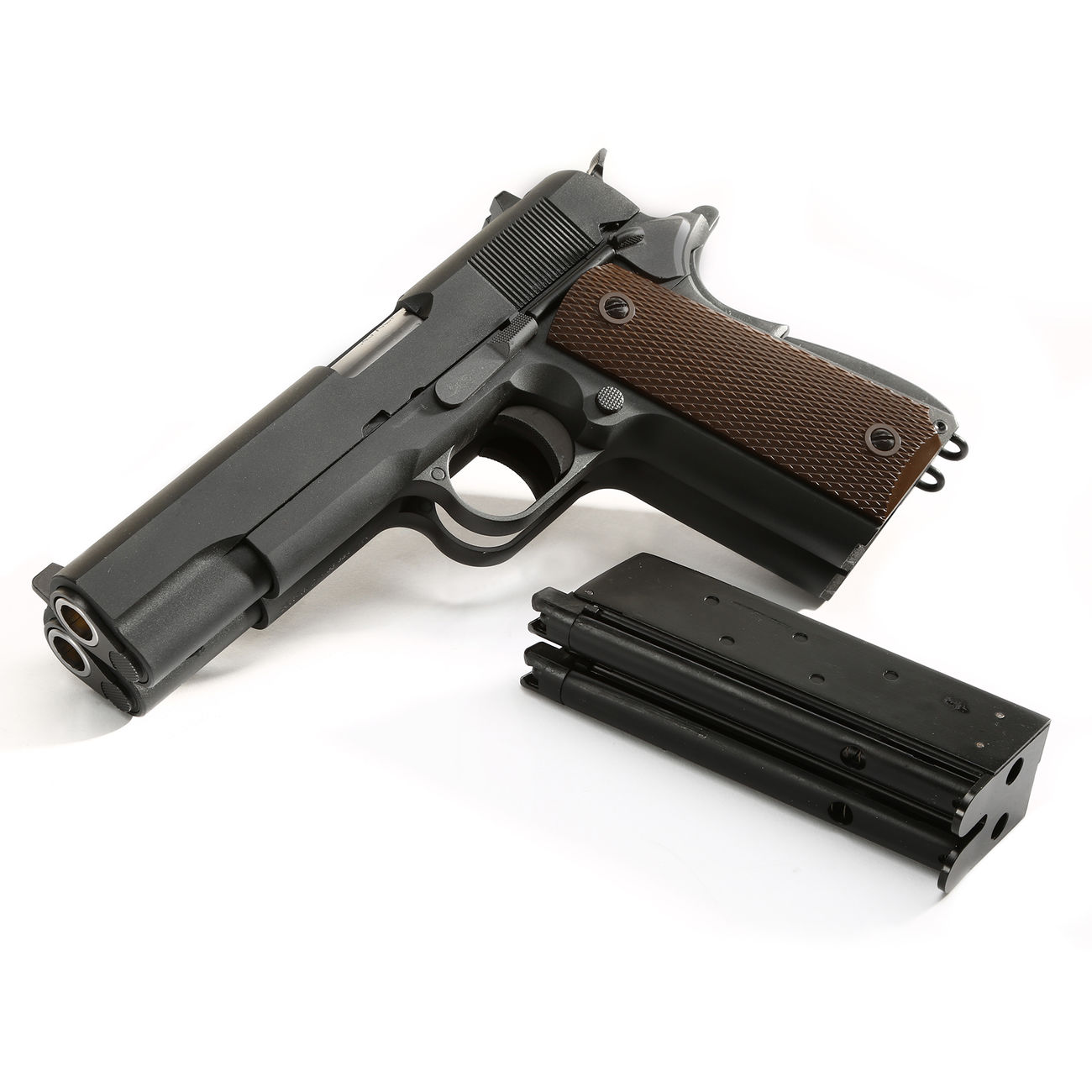 Wei-ETech M1911 Double Barrel Vollmetall GBB 6mm BB schwarz 4