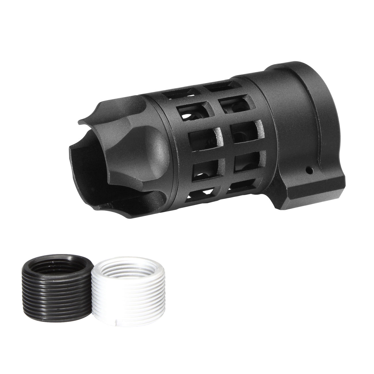 G&P Standard Iron Bars Style Aluminium Flash-Hider schwarz 14mm+ / 14mm- 0