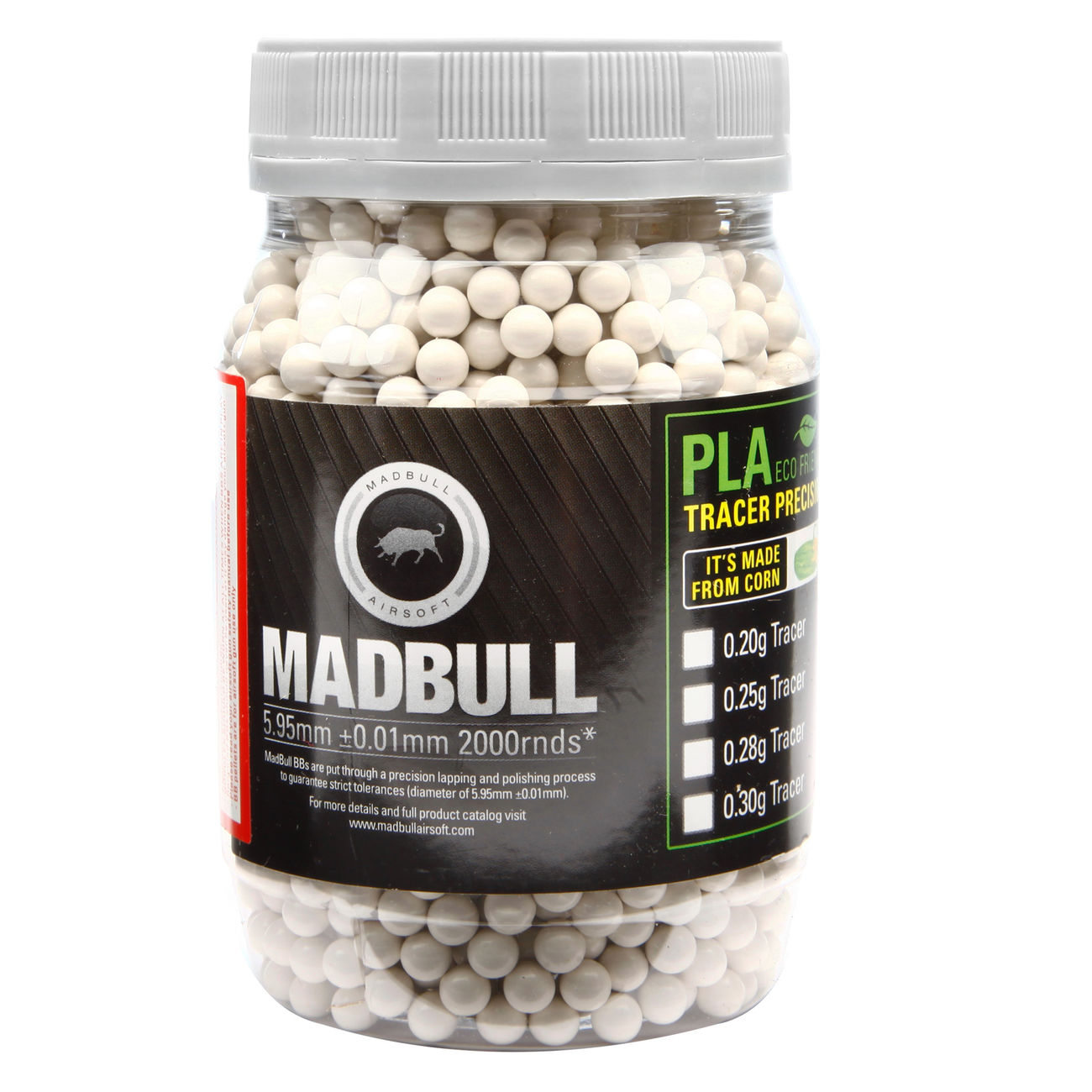 MadBull Ultimate Stainless Series BBs 0.42g 2.000er Container hellgrau 0