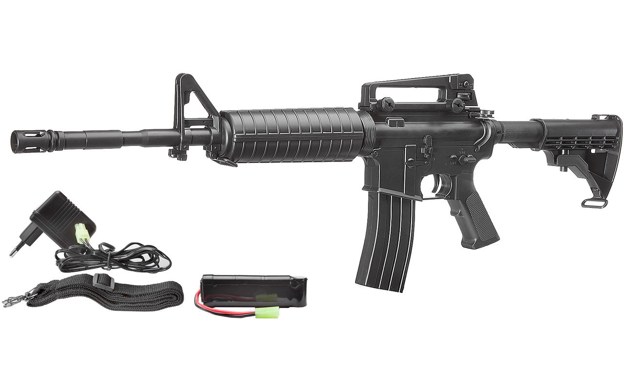 Well M4A1 Carbine Komplettset AEG 6mm BB schwarz 0