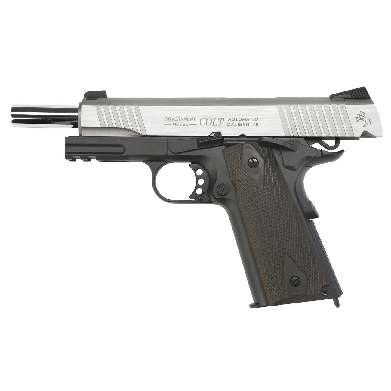 cybergun colt 1911 rail gun vollmetall co2 blowback 6mm bb. Black Bedroom Furniture Sets. Home Design Ideas